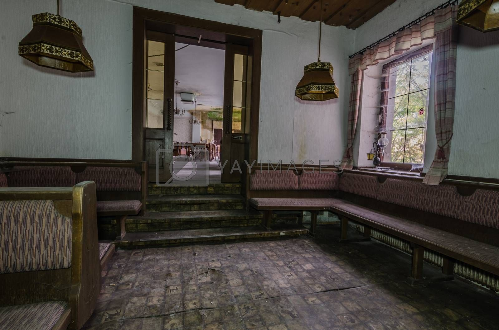 Anteroom to hall in old guest house by thomaseder