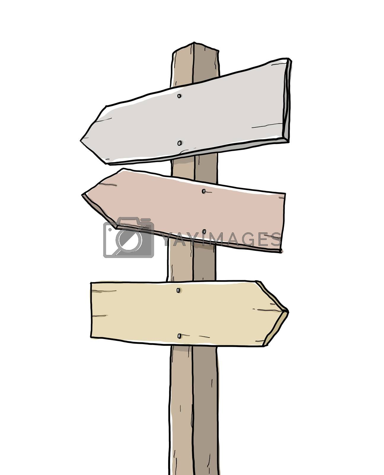 old sign junction art illustration