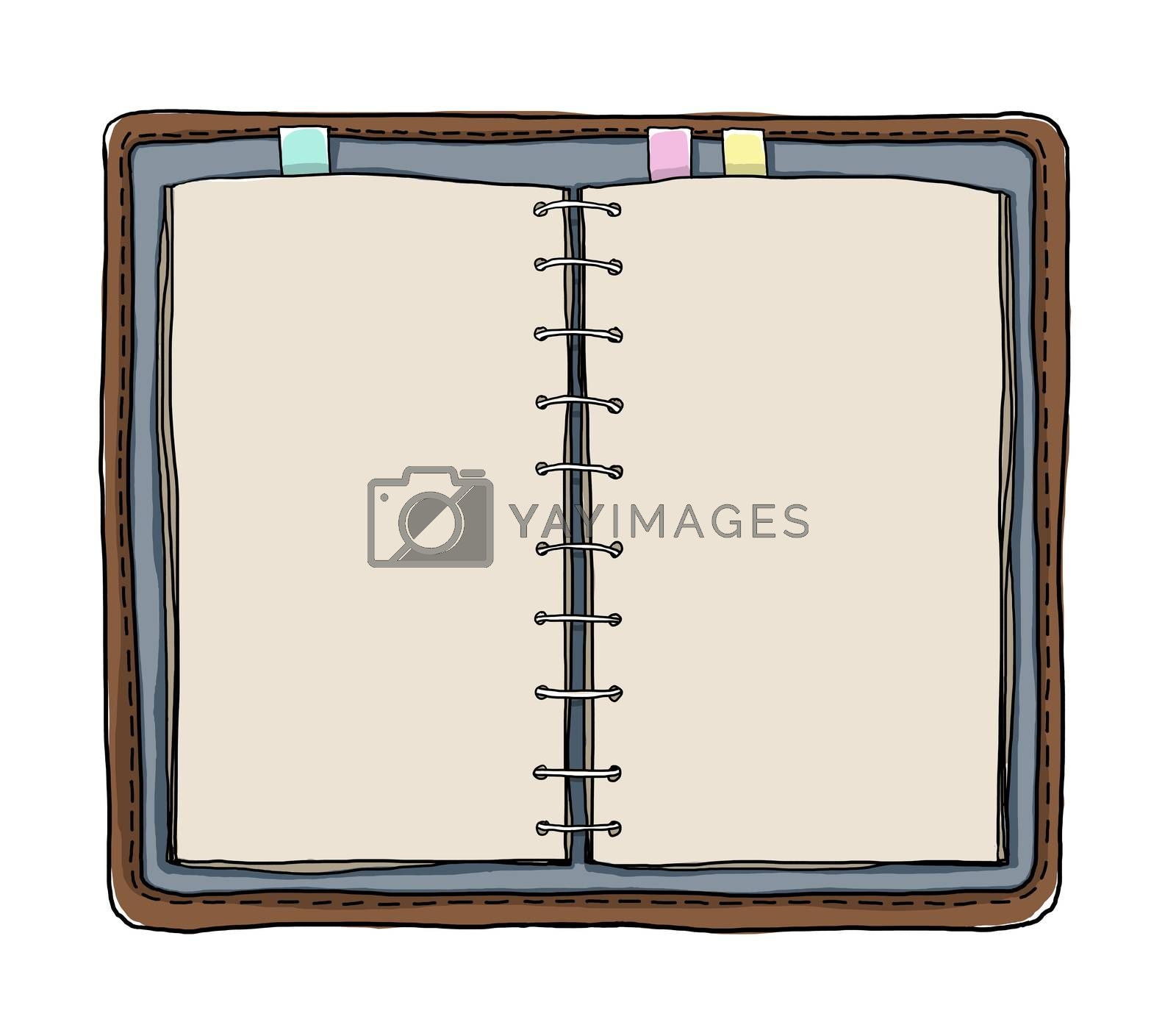 notebooks art vintage on white background painting illustration