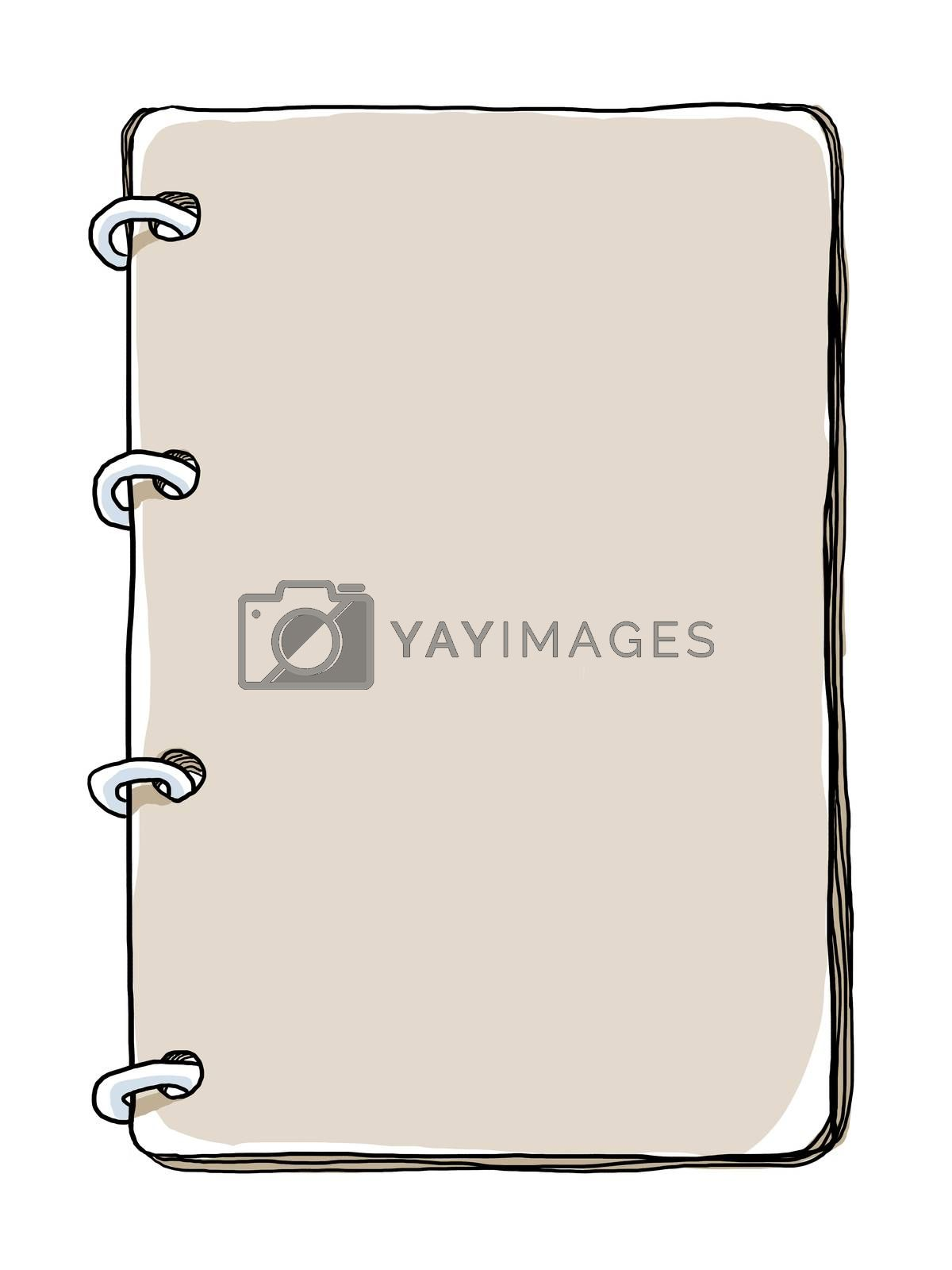 Notebook Paper Vintage art illustration