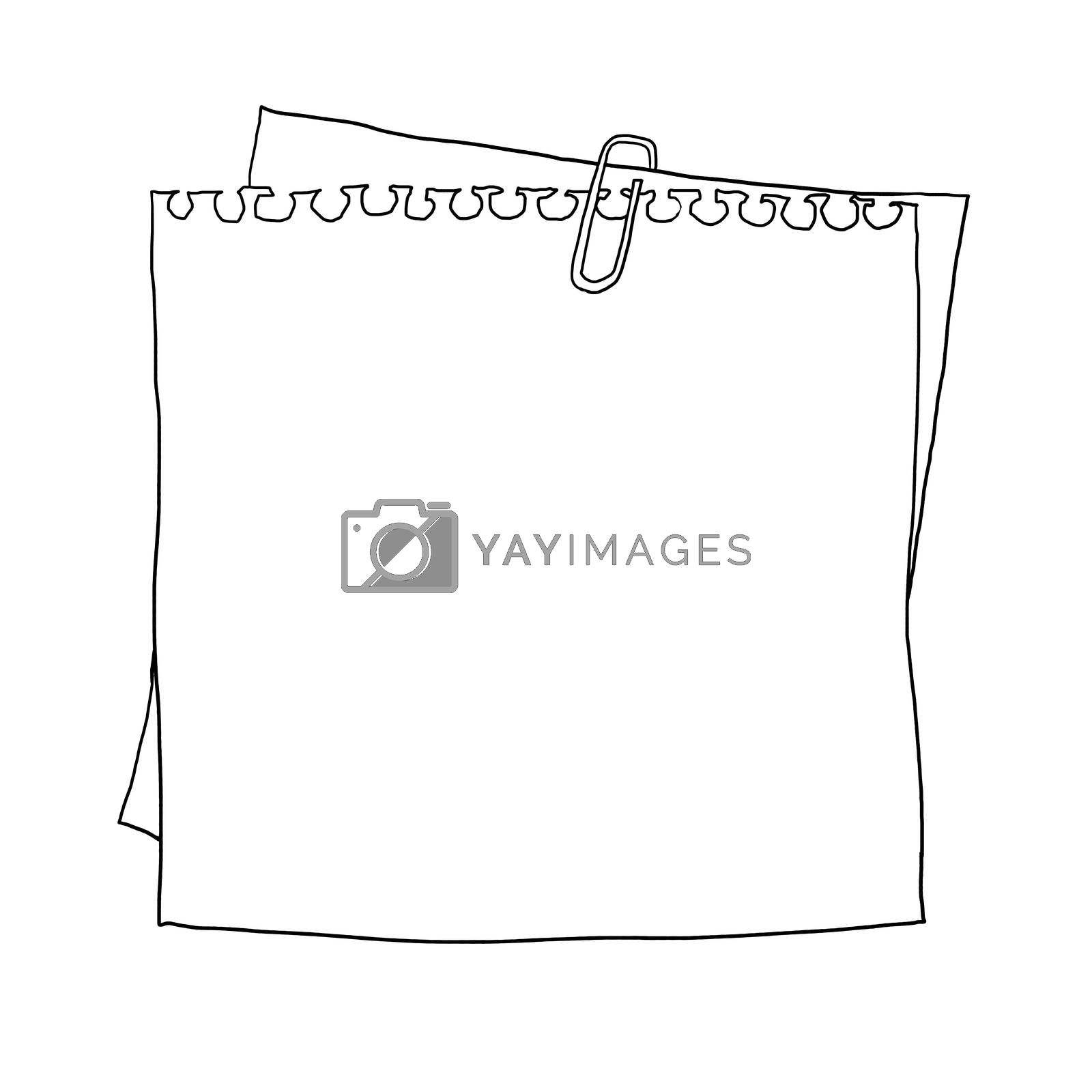 notebook paper on  cardboard background line art