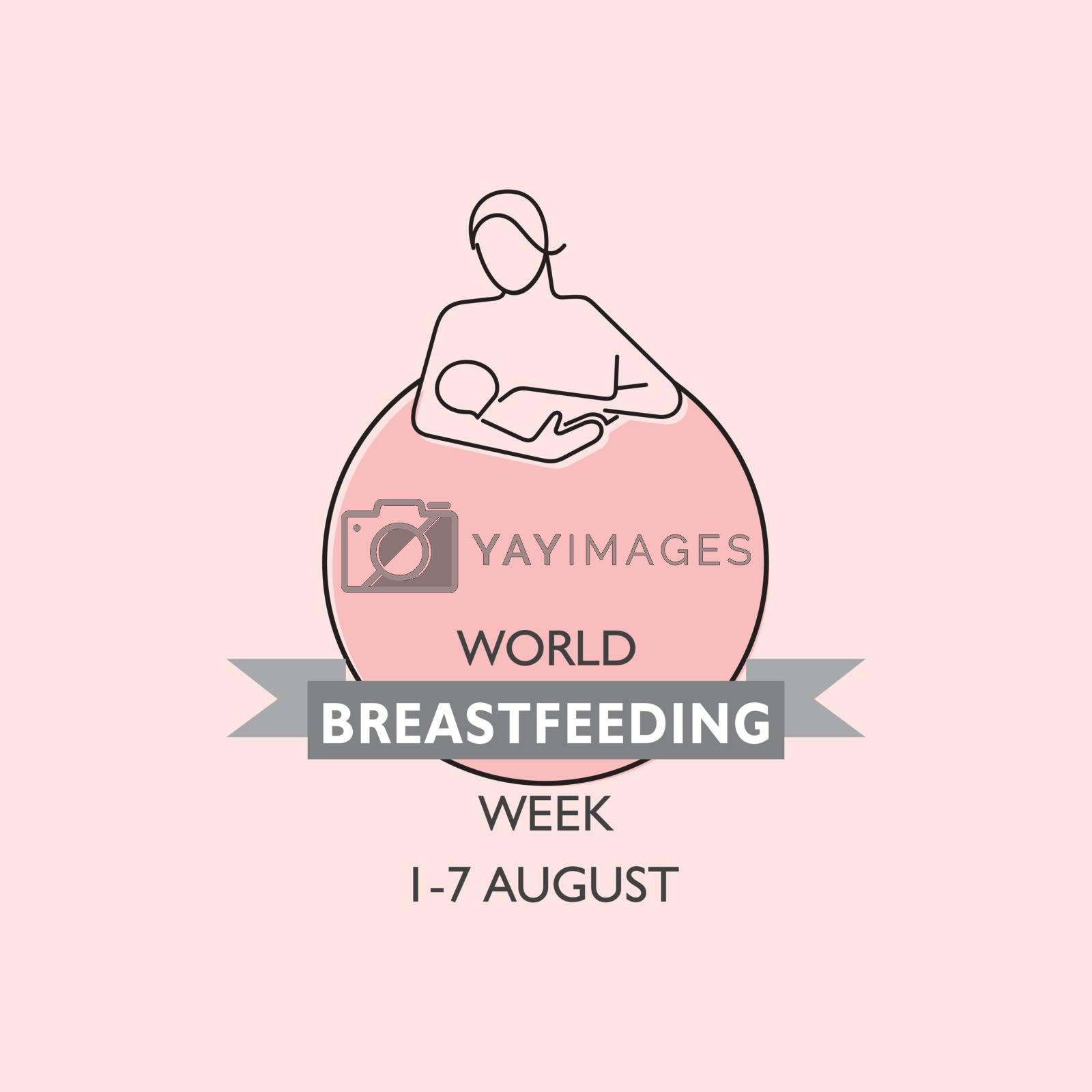 Concept of World Breast feeding Week observed in first week of August Month by graphicsdunia4you