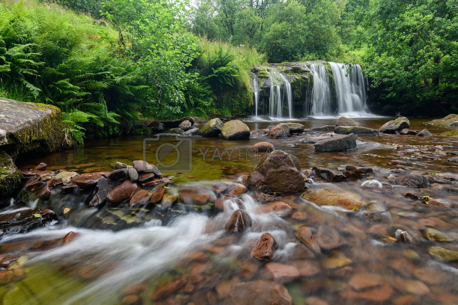 Waterfall in the Brecon Beacons national Park