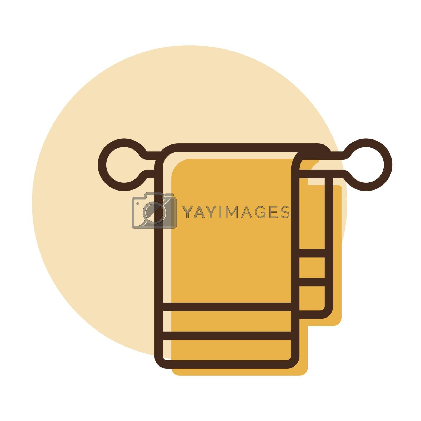 Towel in hook vector icon. Hotel sign. Graph symbol for travel and tourism web site and apps design, logo, app, UI