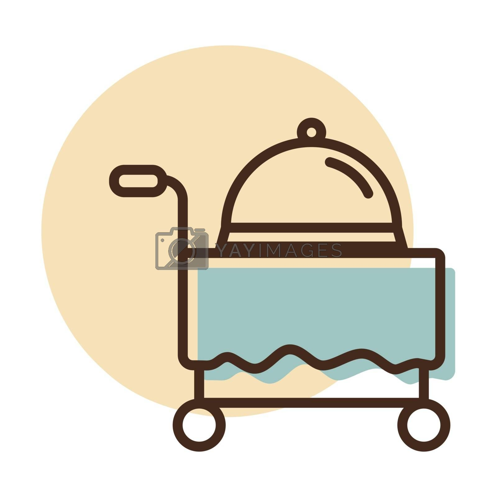 Hotel room service vector icon. Graph symbol for travel and tourism web site and apps design, logo, app, UI