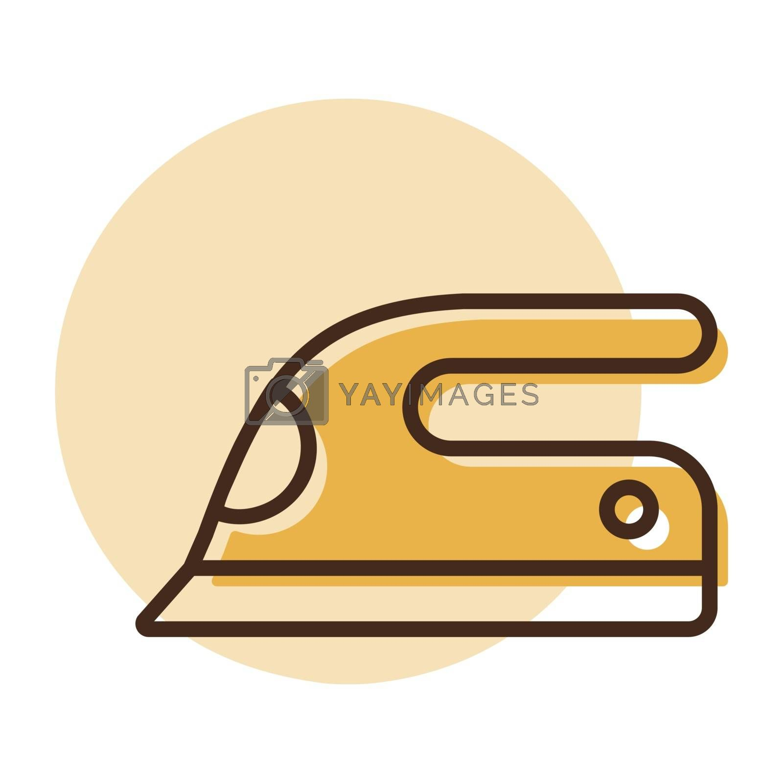 Steam iron flat vector icon. Graph symbol for household electric web site and apps design, logo, app, UI