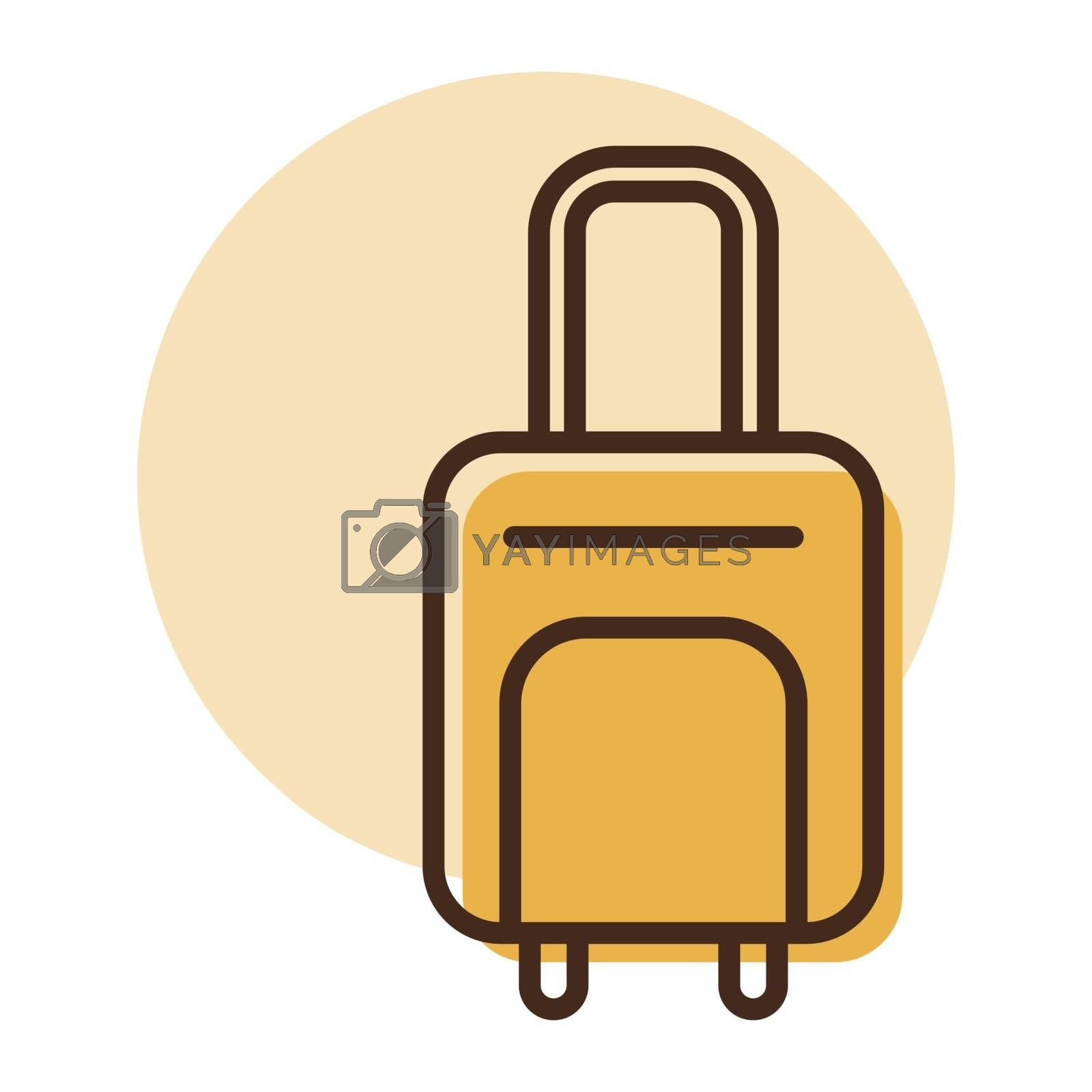 Baggage, luggage flat vector icon. Graph symbol for travel and tourism web site and apps design, logo, app, UI