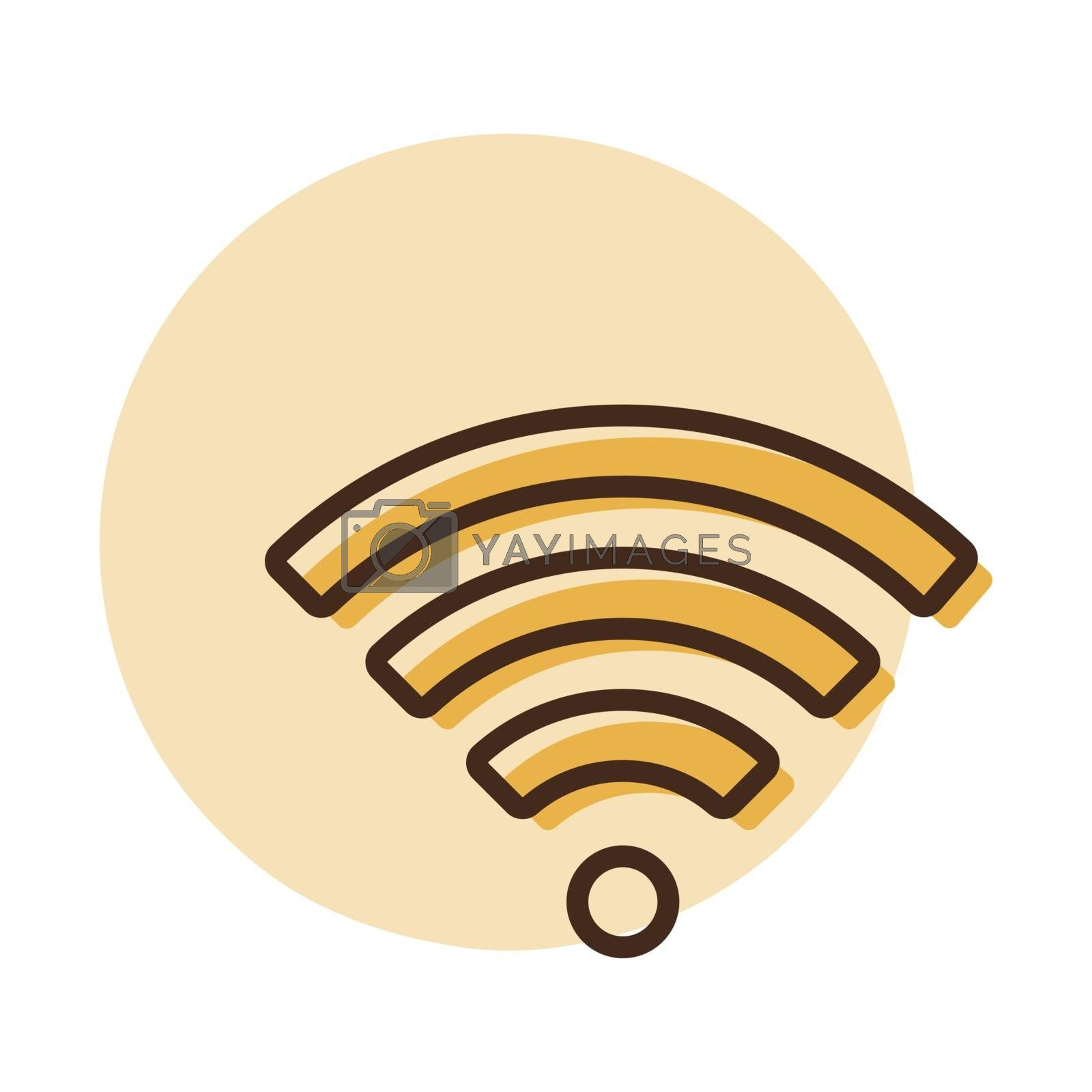 Wi Fi wireless network flat vector icon. Graph symbol for telecommunication web site and apps design, logo, app, UI