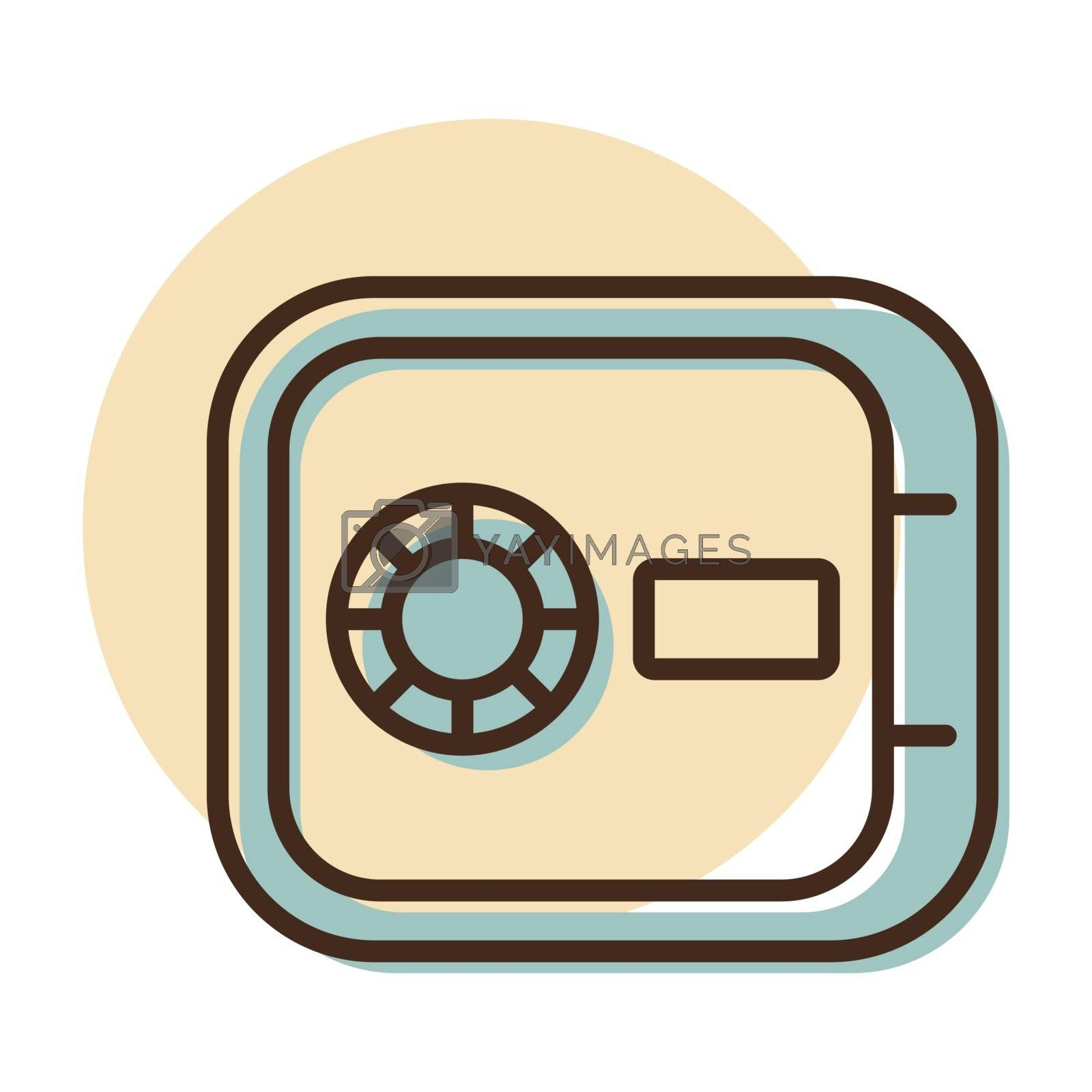 In room safe flat vector icon. Graph symbol for travel and tourism web site and apps design, logo, app, UI