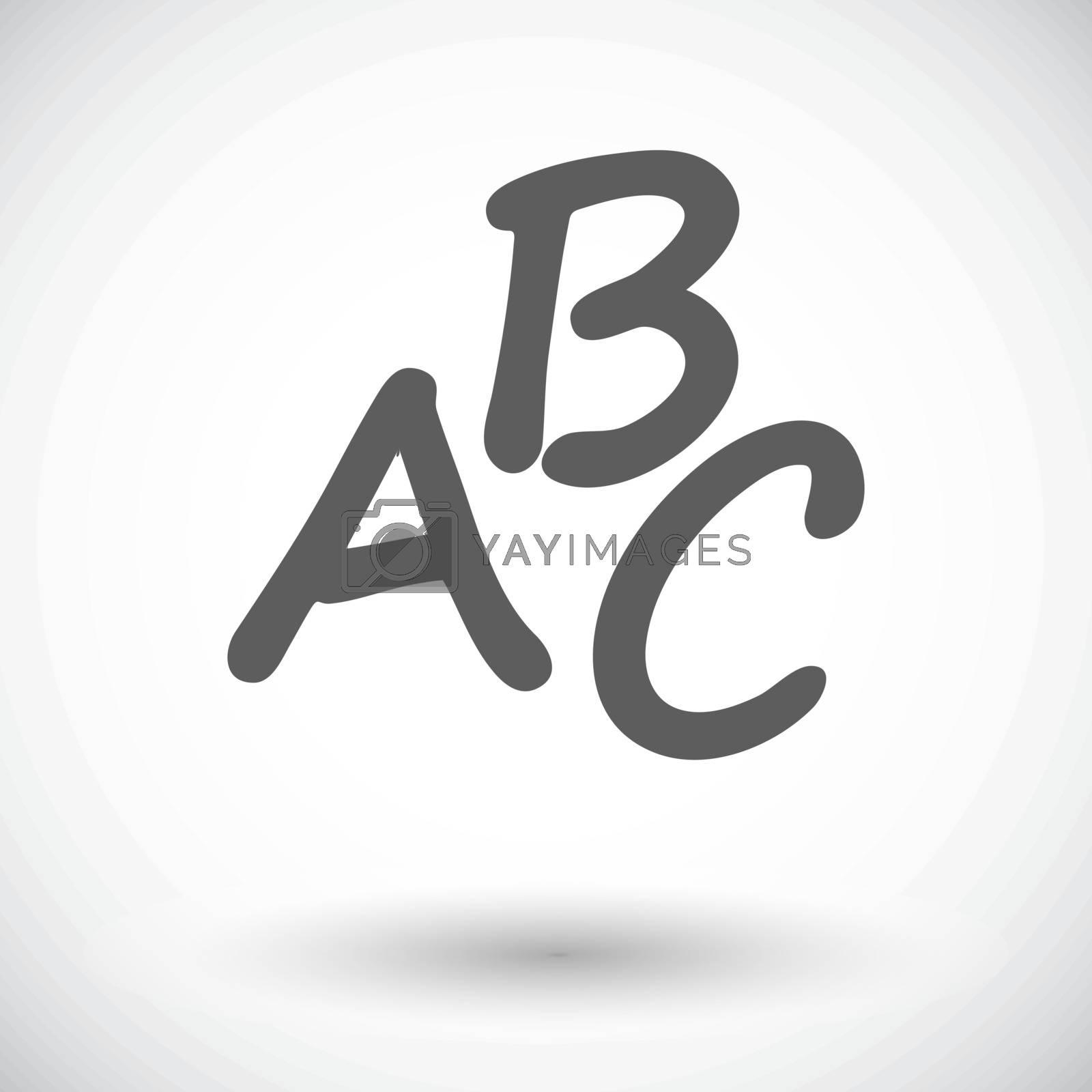 Alphabet. Single flat icon on white background. Vector illustration.