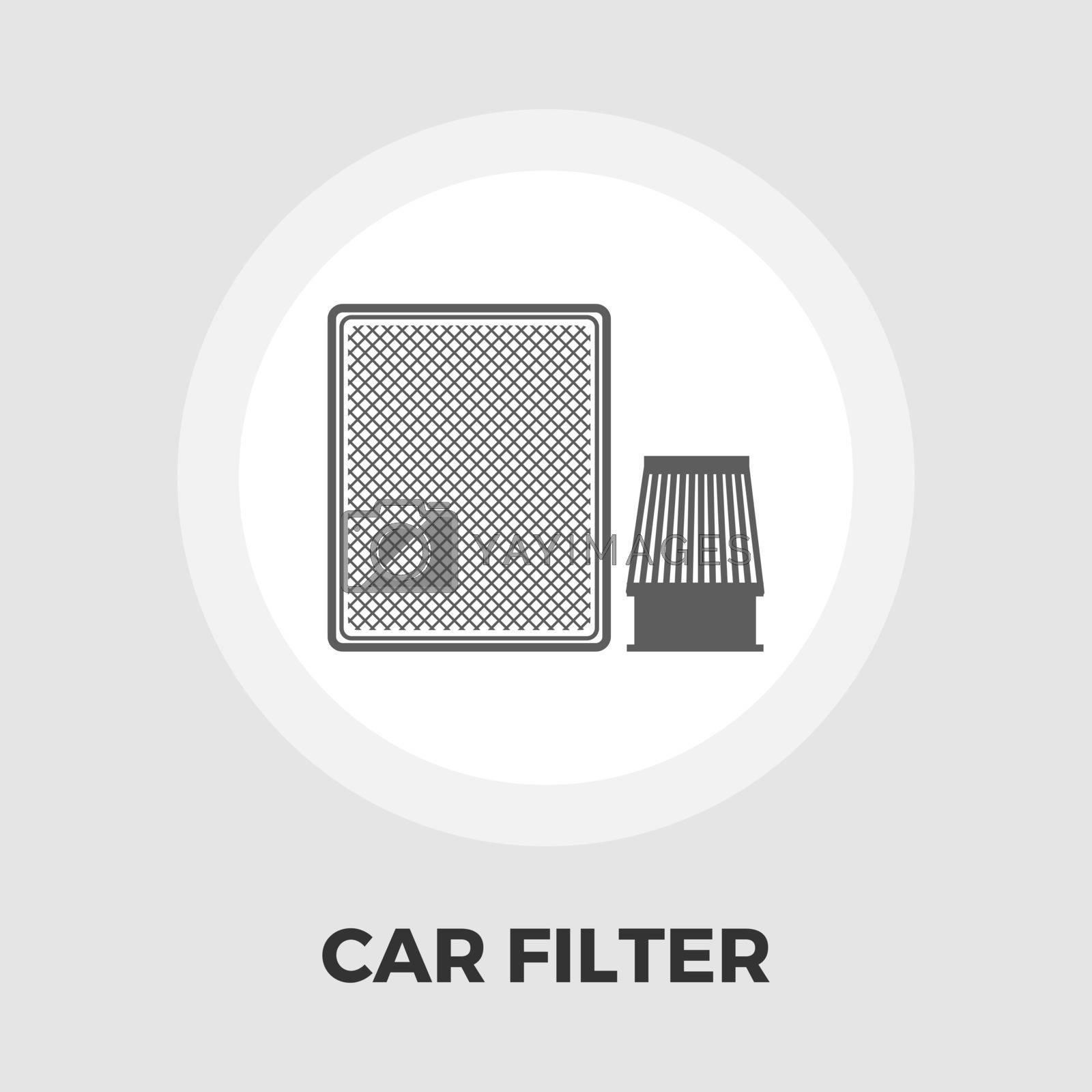 Automotive filter flat icon by smoki