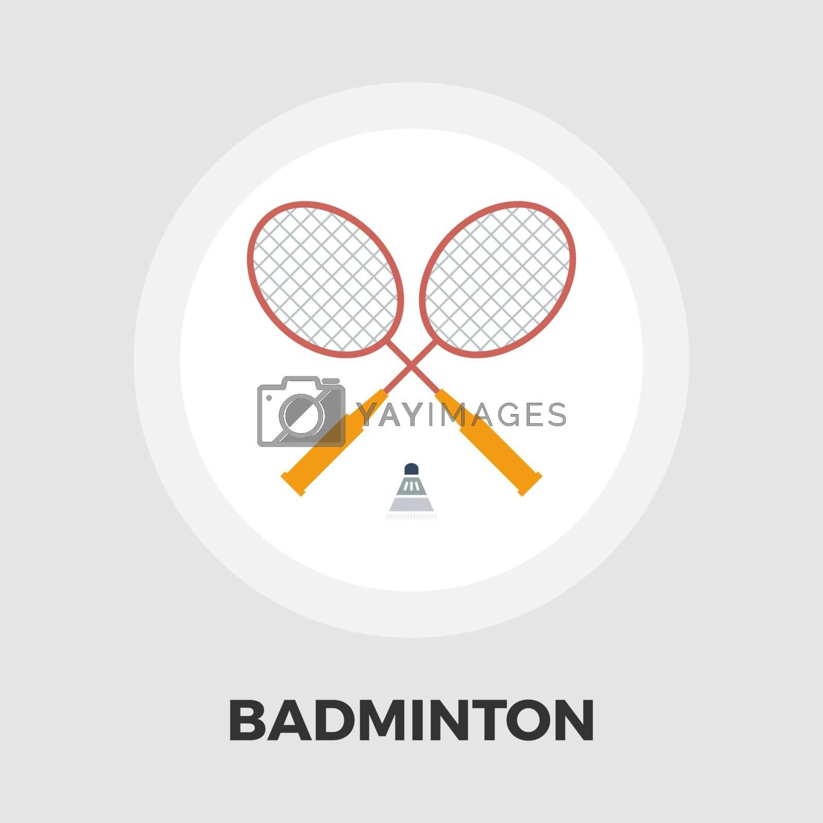Badminton flat icon by smoki