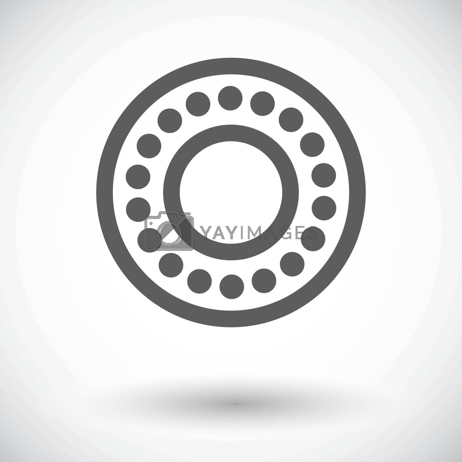 Bearing. Single flat icon on white background. Vector illustration.