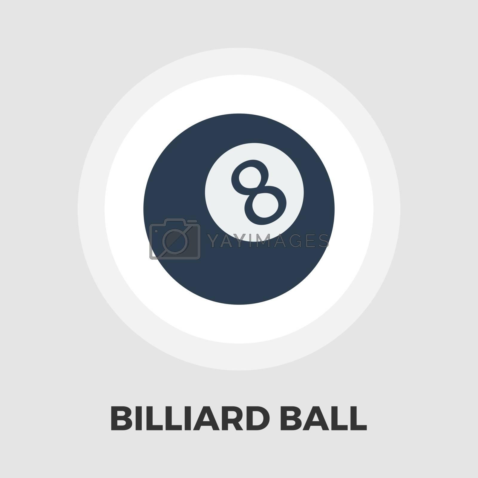 Billiard ball flat icon by smoki