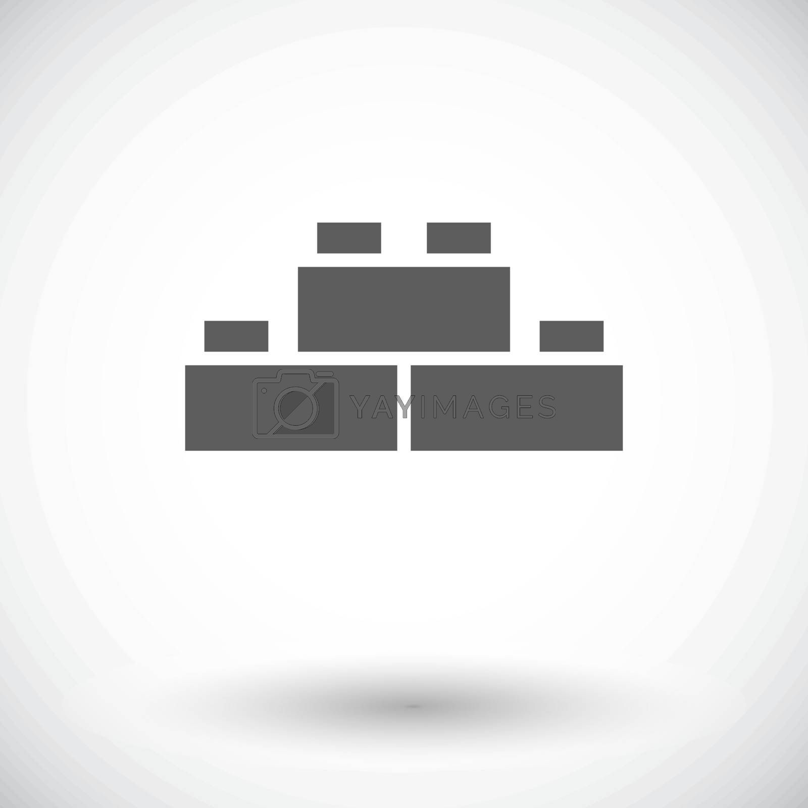 Building block icon. Flat vector related icon for web and mobile applications. It can be used as - logo, pictogram, icon, infographic element. Vector Illustration.