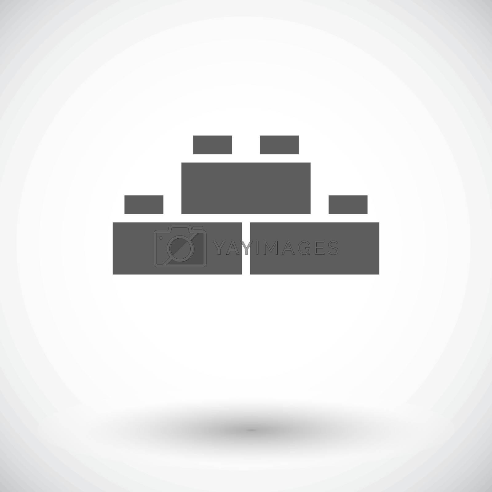 Building block icon by smoki