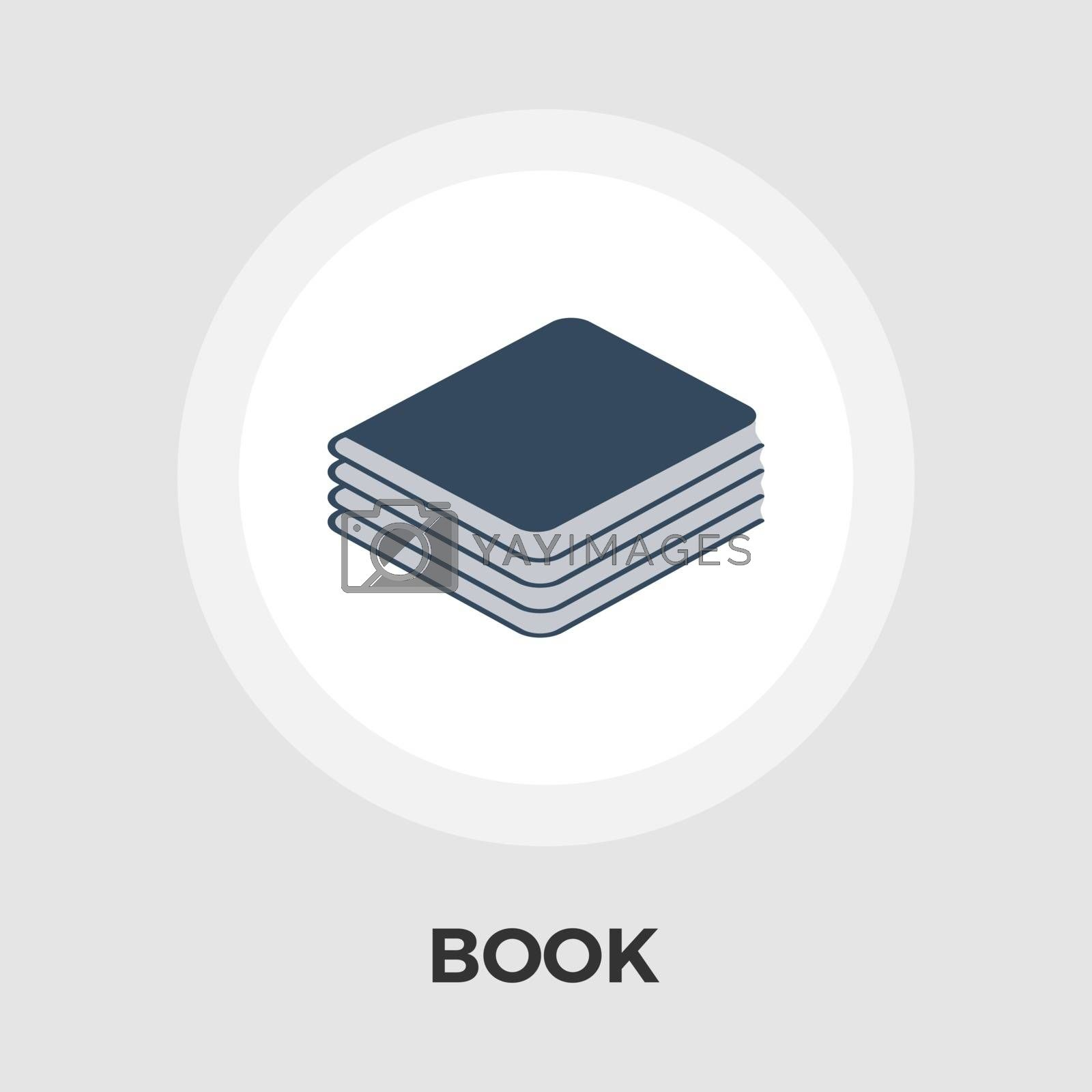 Book Flat Icon by smoki