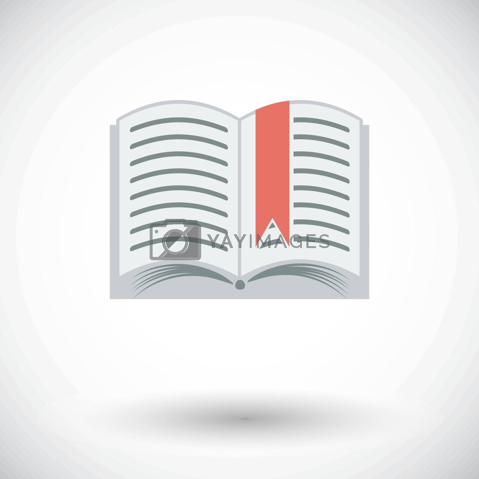 Book. Single flat icon on white background. Vector illustration.