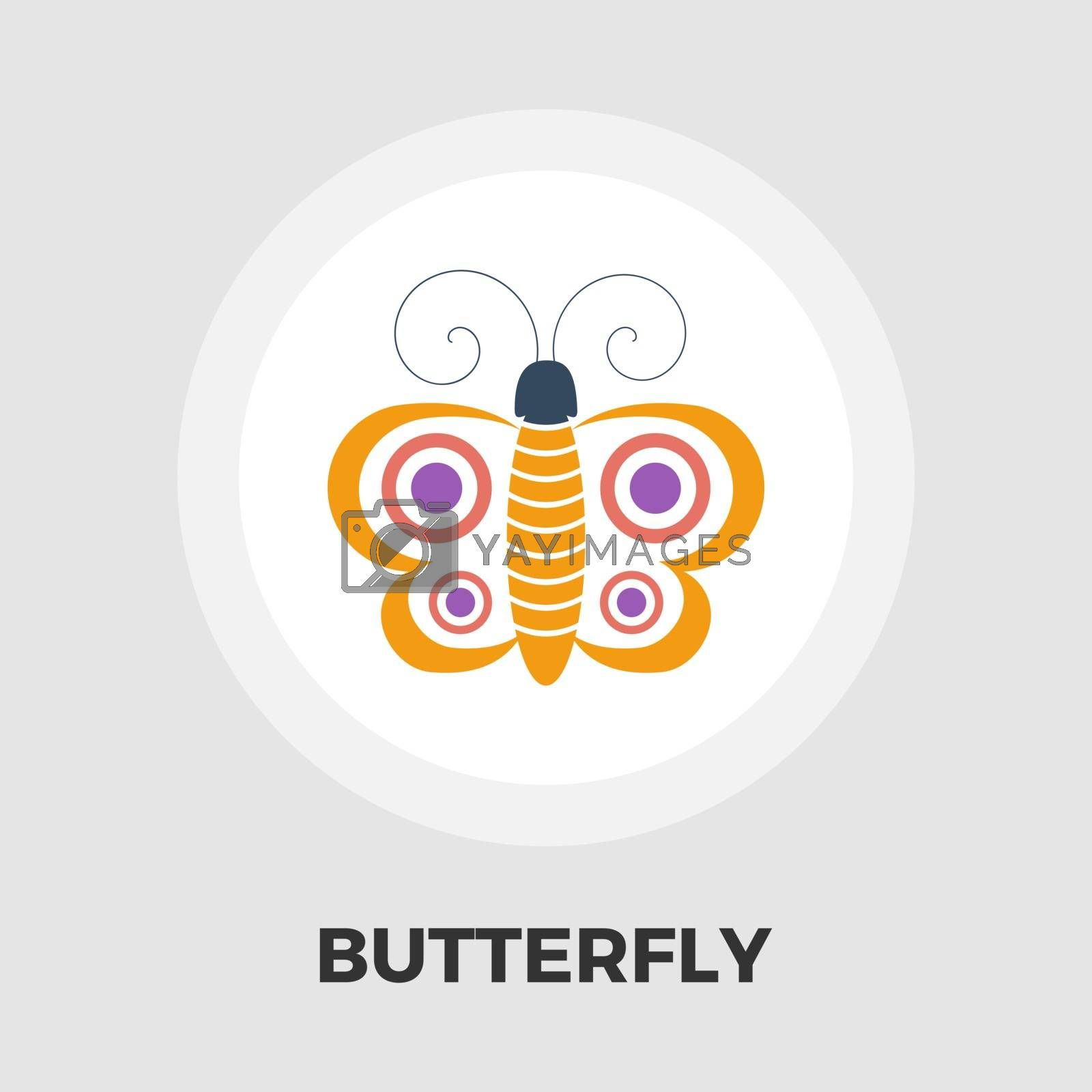 Butterfly icon vector. Flat icon isolated on the white background. Editable EPS file. Vector illustration.