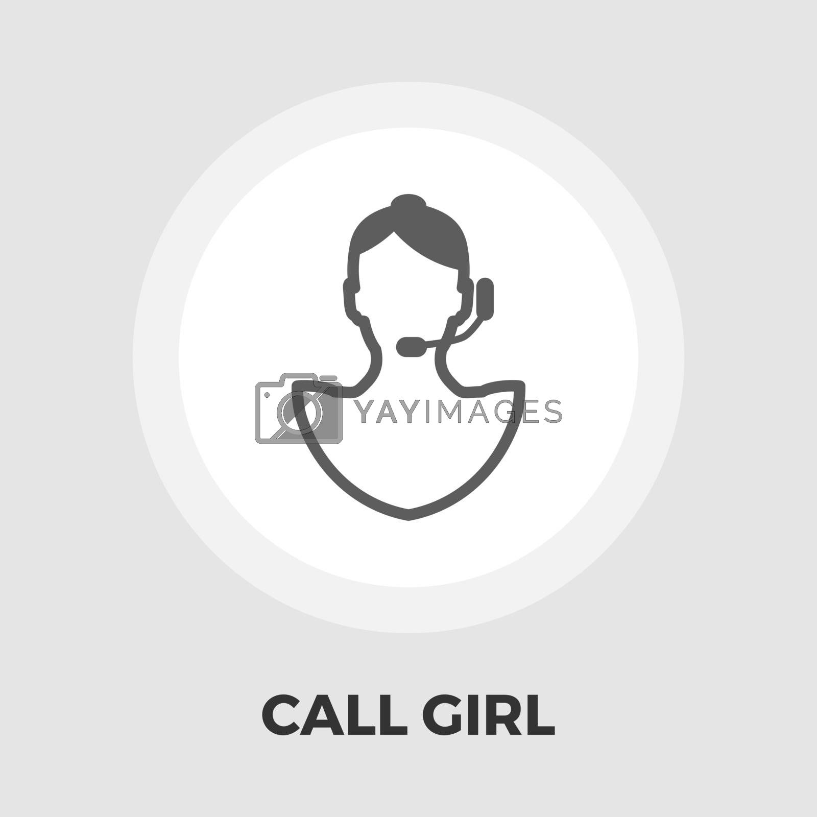 Call girl icon vector. Flat icon isolated on the white background. Editable EPS file. Vector illustration.
