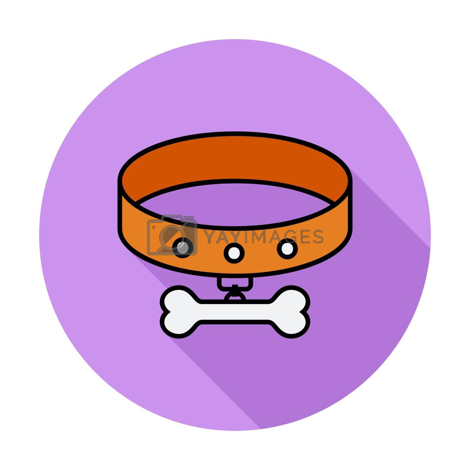 Collar flat icon by smoki