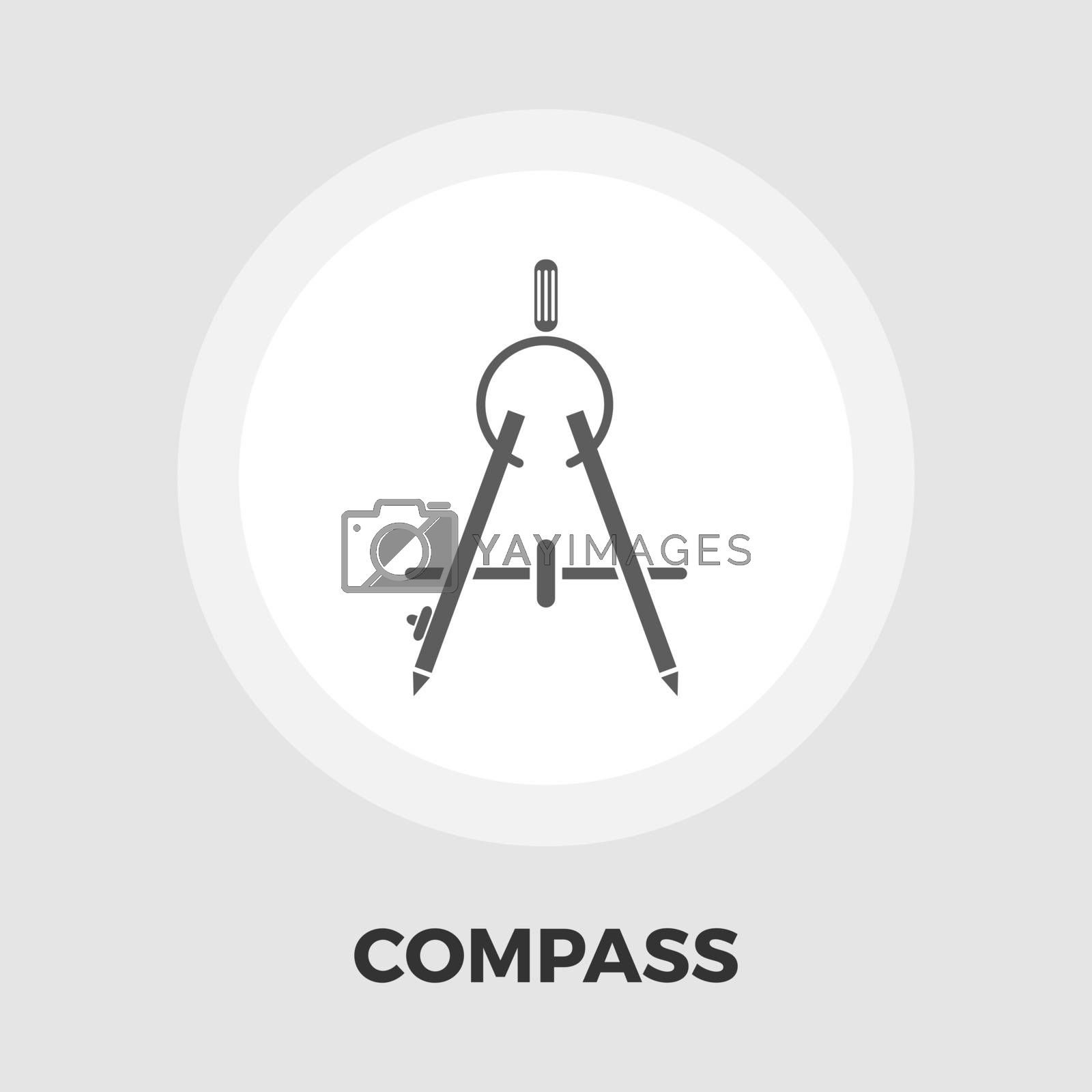 Compass icon vector. Flat icon isolated on the white background. Editable EPS file. Vector illustration.