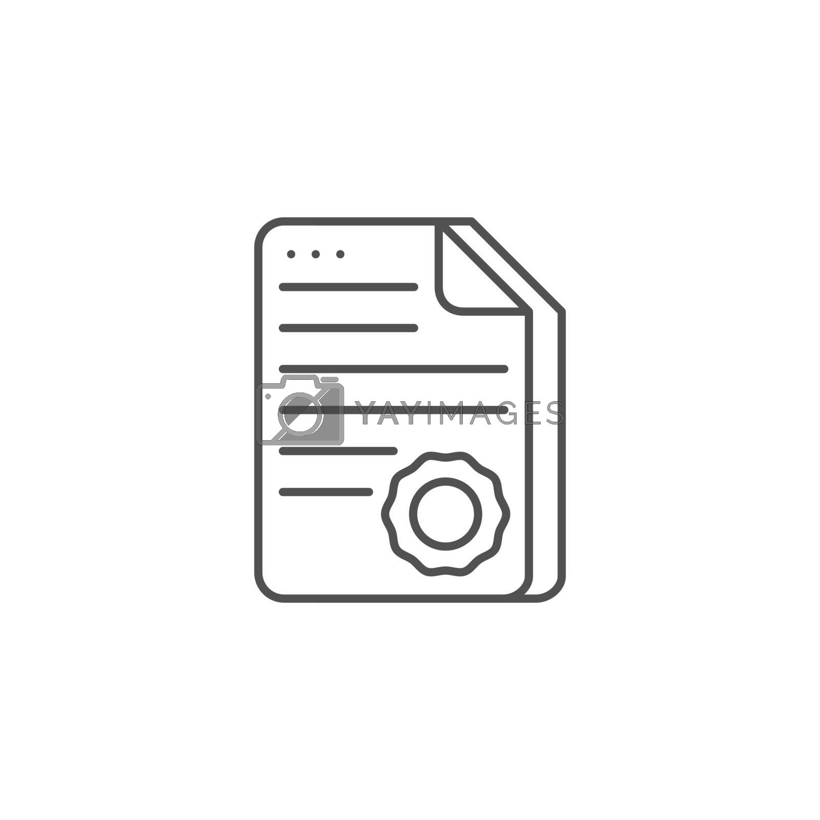 Certificate Related Vector Line Icon by smoki