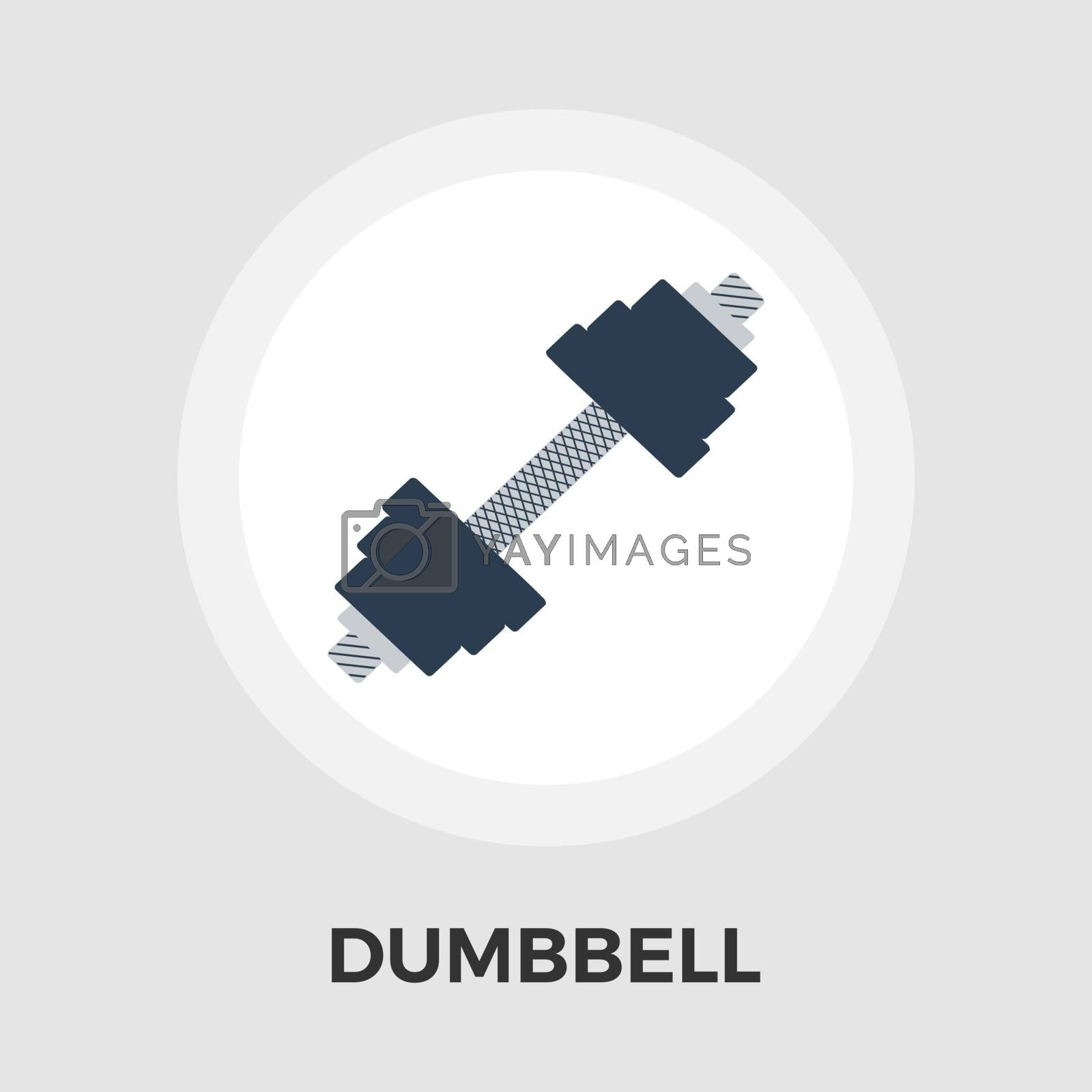 Dumbbell vector flat icon by smoki
