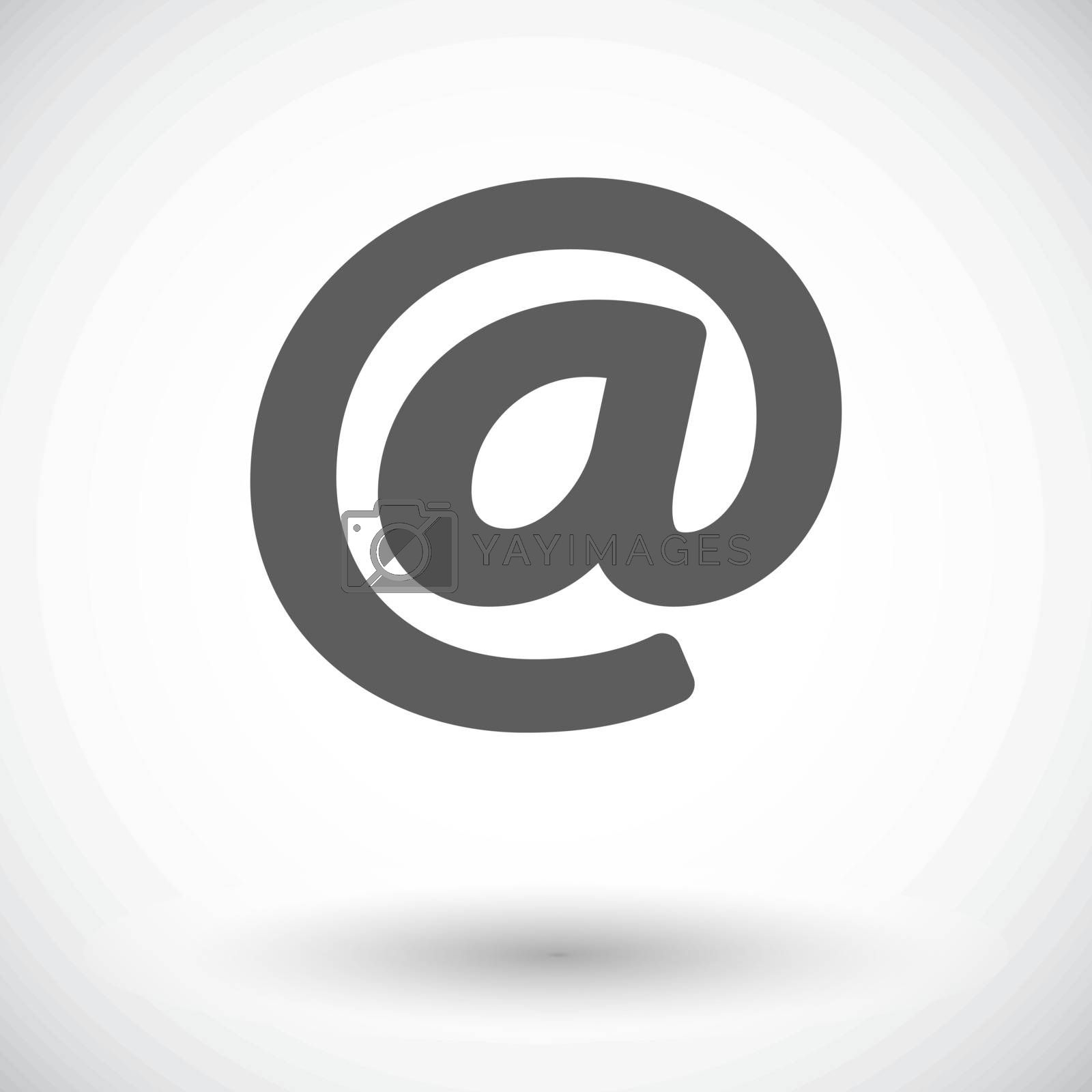 Email. Single flat icon on white background. Vector illustration.
