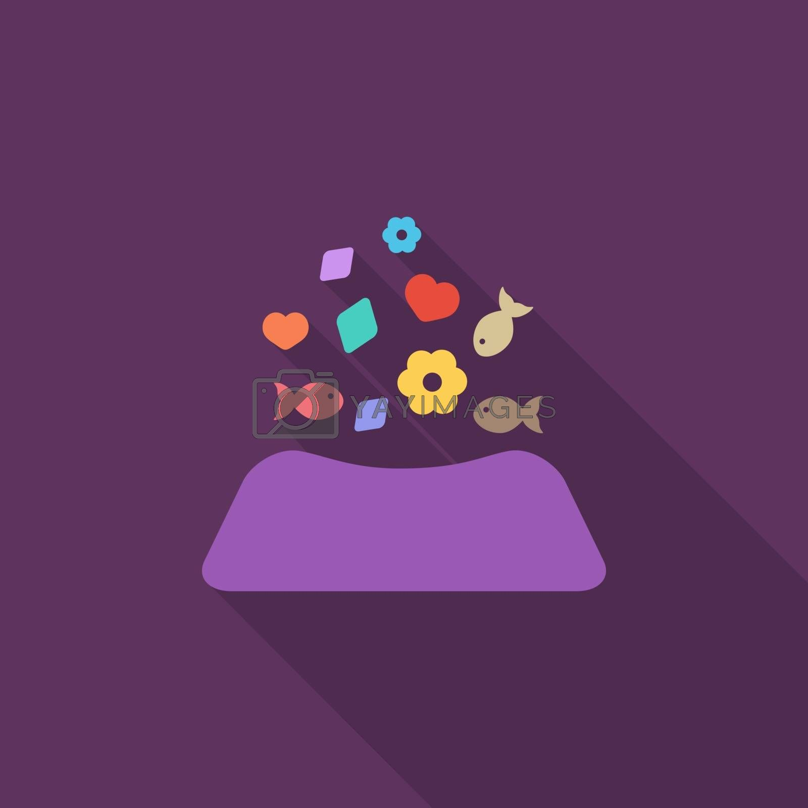Animal bowl icon. Flat vector related icon for web and mobile applications. It can be used as - logo, pictogram, icon, infographic element. Vector Illustration.