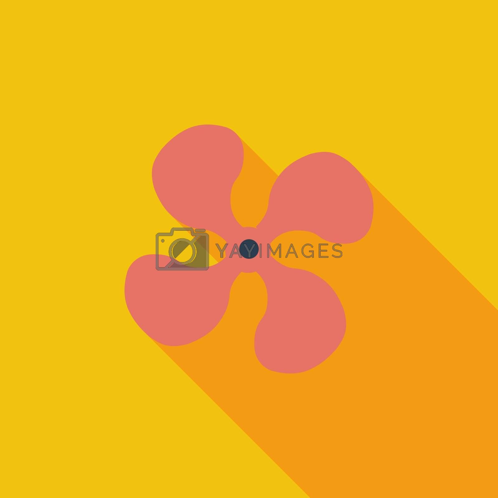Fan single icon. by smoki
