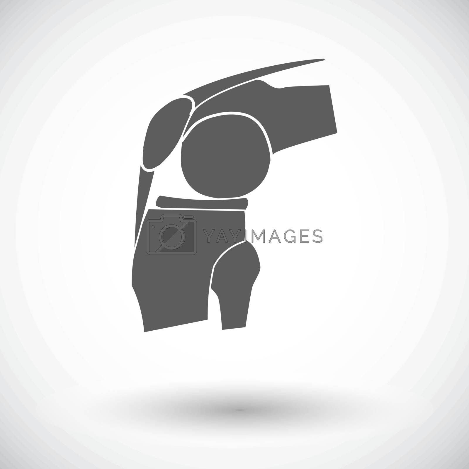 Joint. Single flat icon on white background. Vector illustration.
