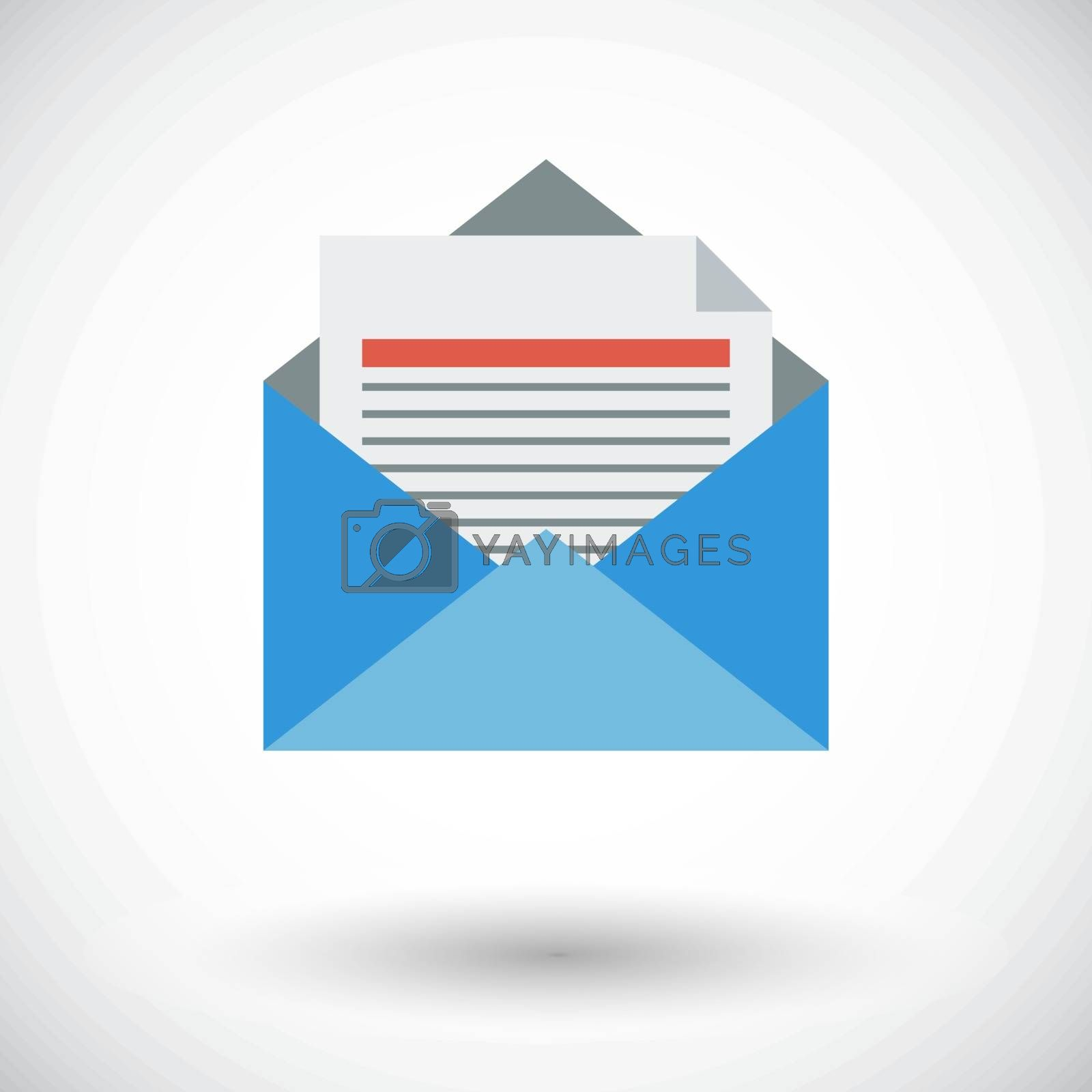 Envelope flat icon. by smoki