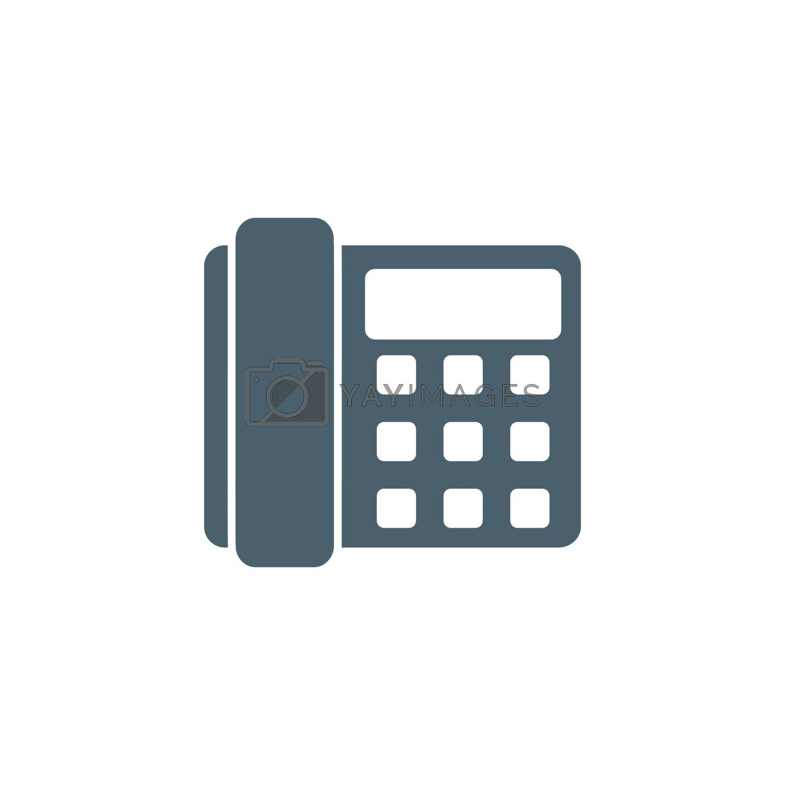 Office Phone related vector glyph icon. Isolated on white background. Vector illustration.