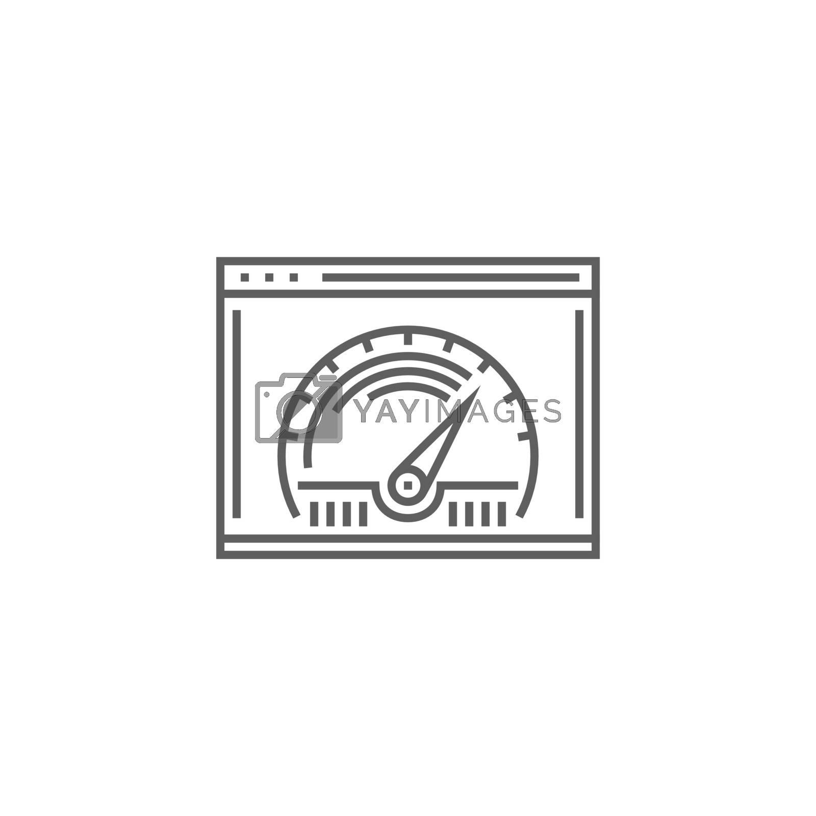 Page Speed Line Icon by smoki