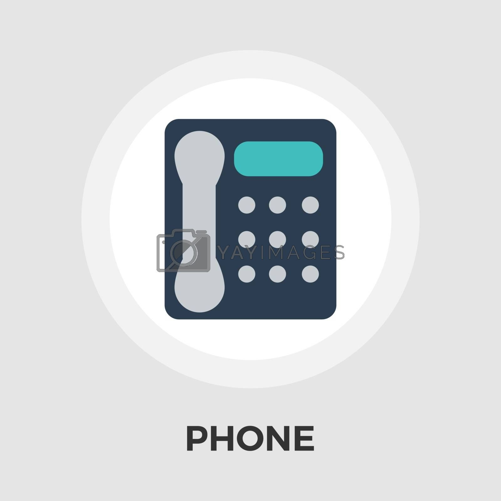 Office phone icon vector. Flat icon isolated on the white background. Editable EPS file. Vector illustration.