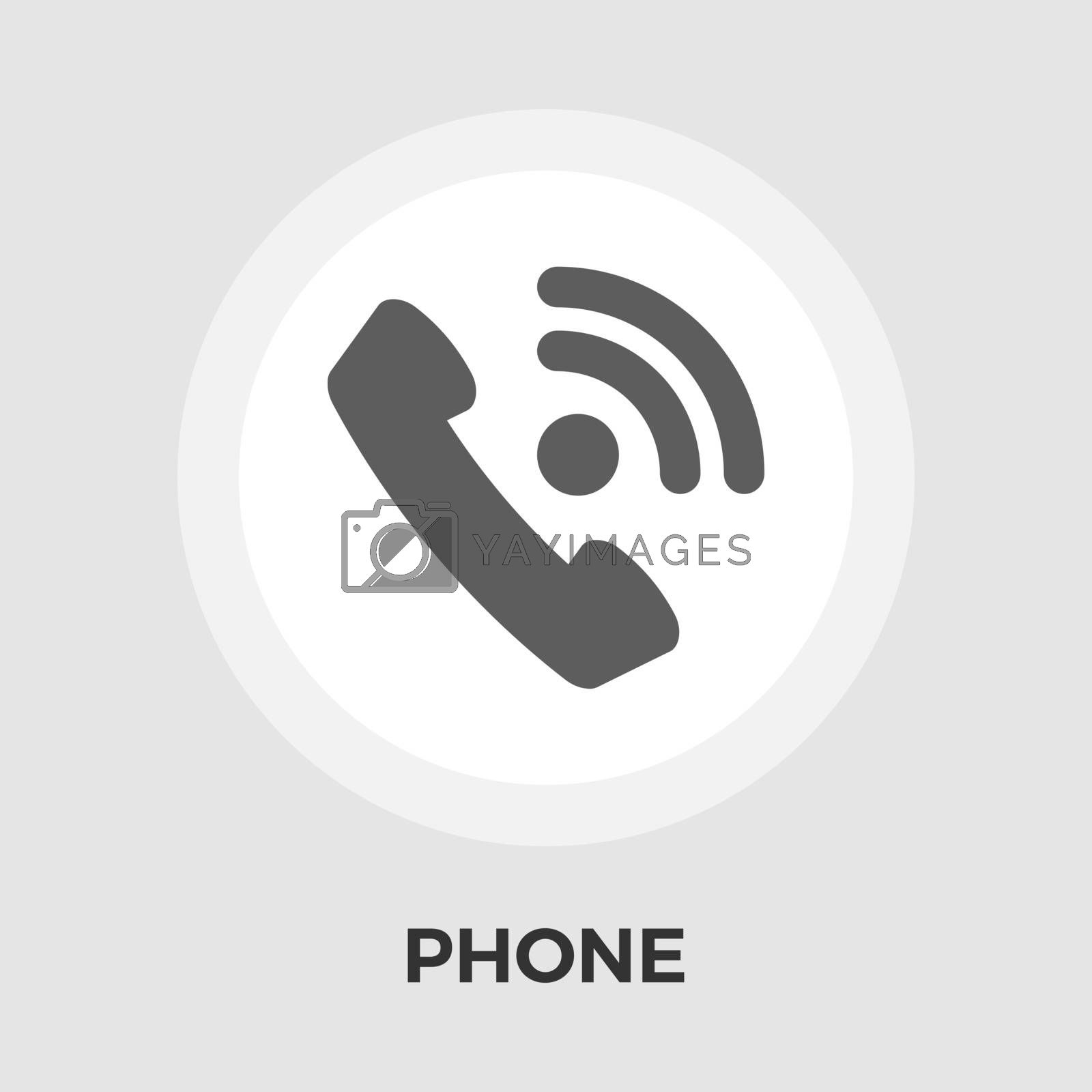 Office phone vector flat icon by smoki