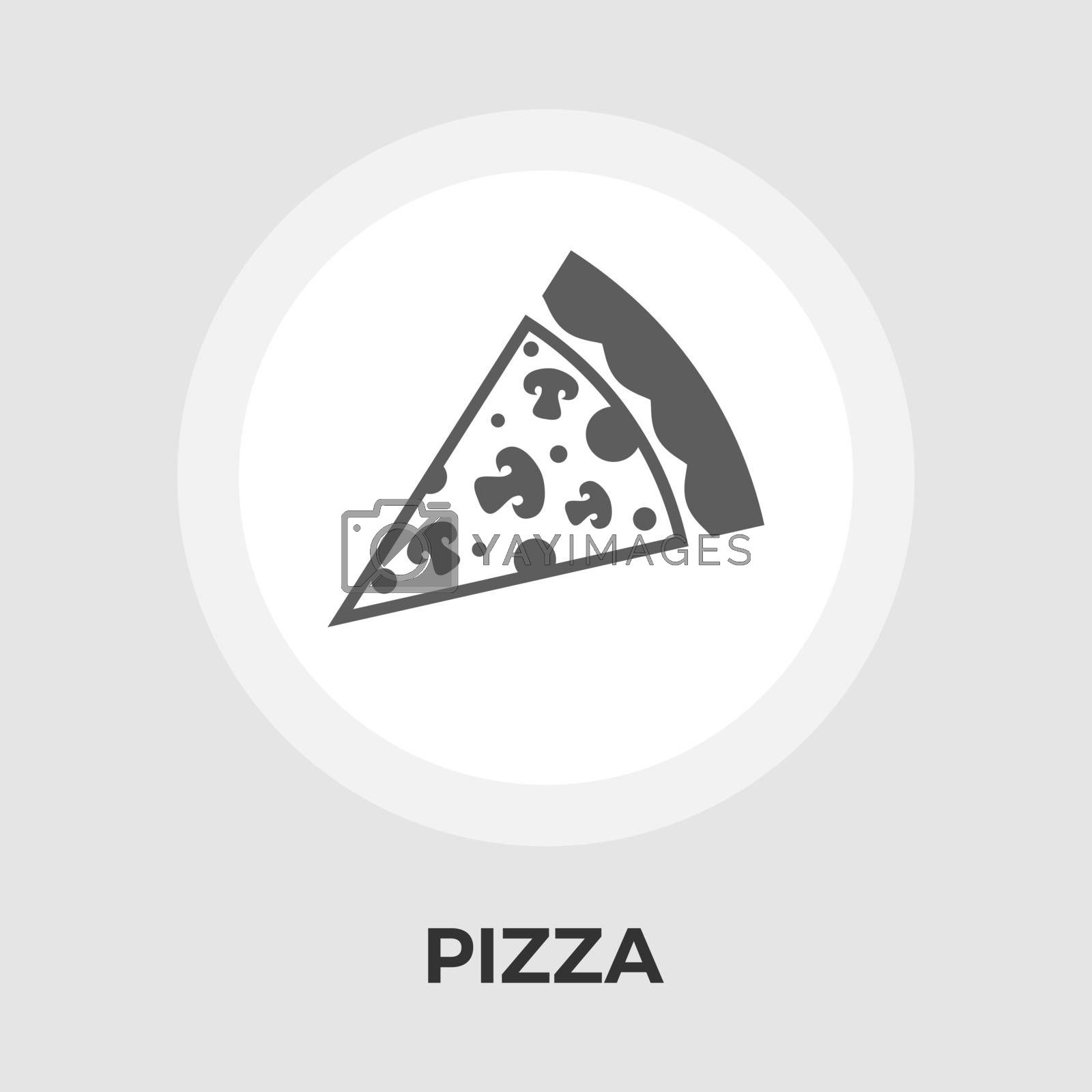 Pizza flat icon by smoki