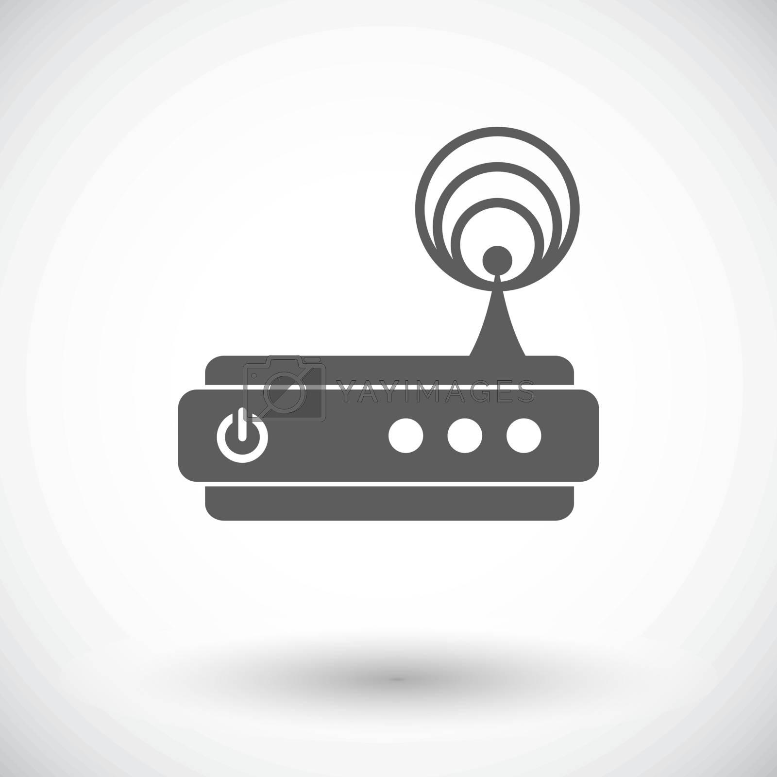 Router single icon. by smoki