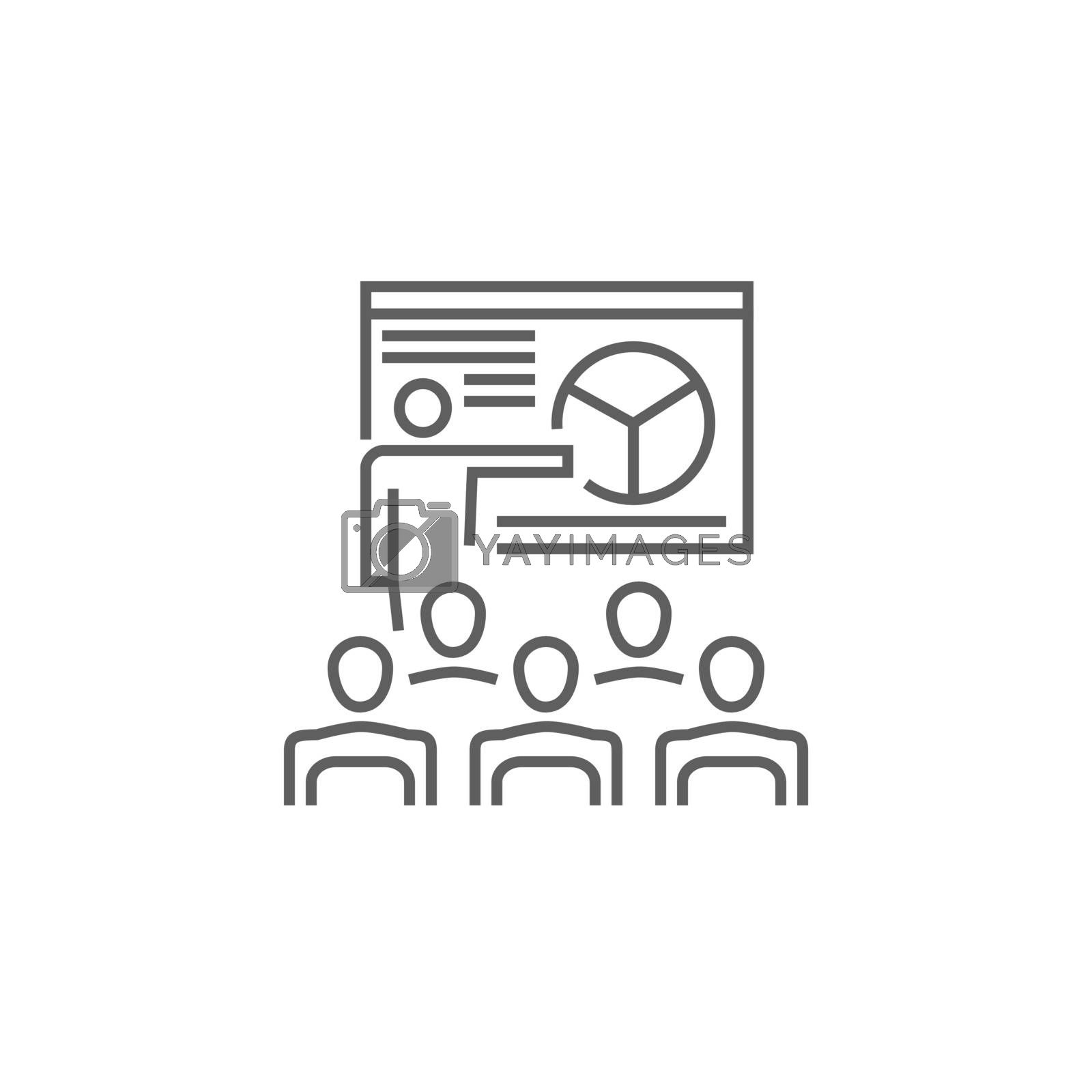 Presentation Line Icon by smoki