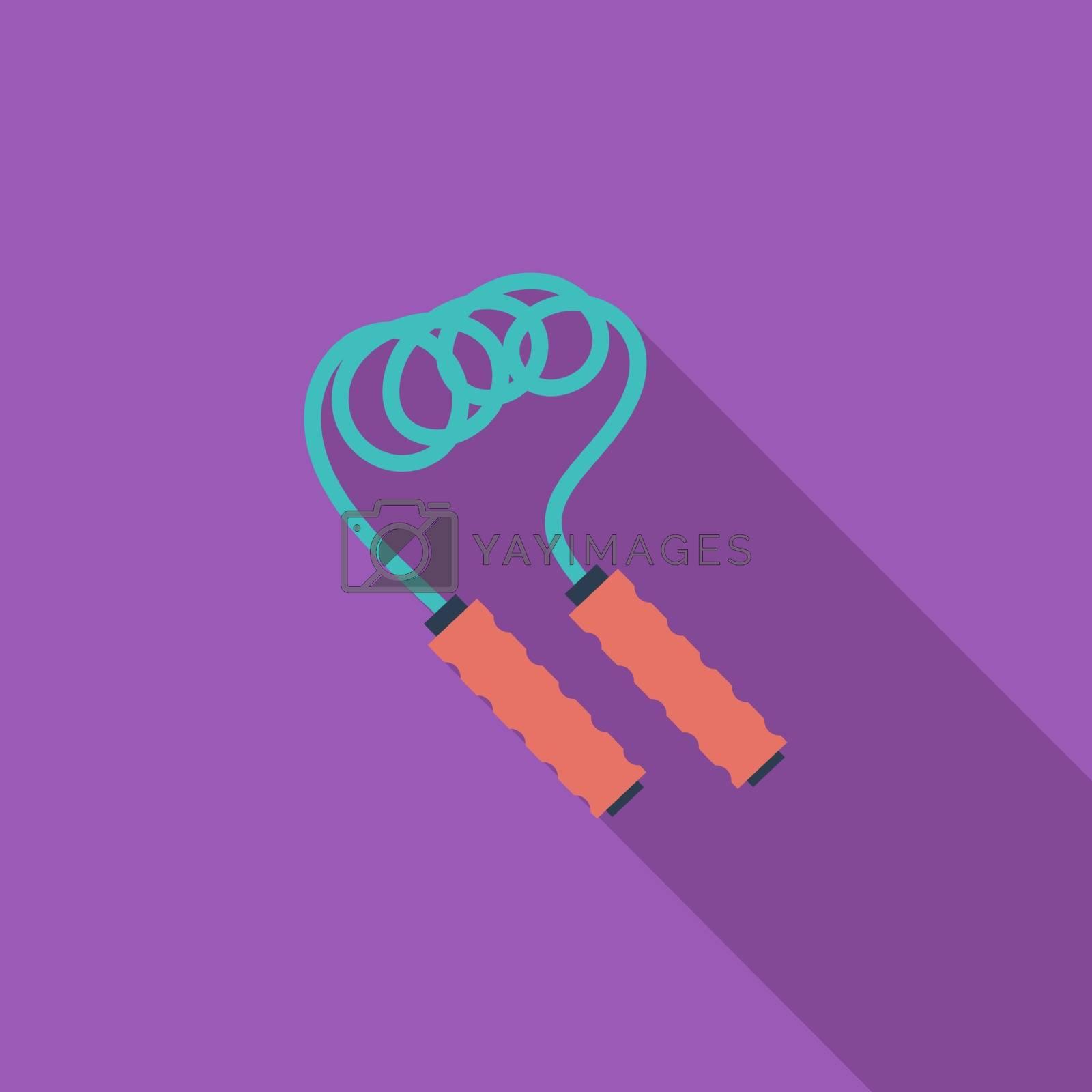 Skipping rope icon. by smoki