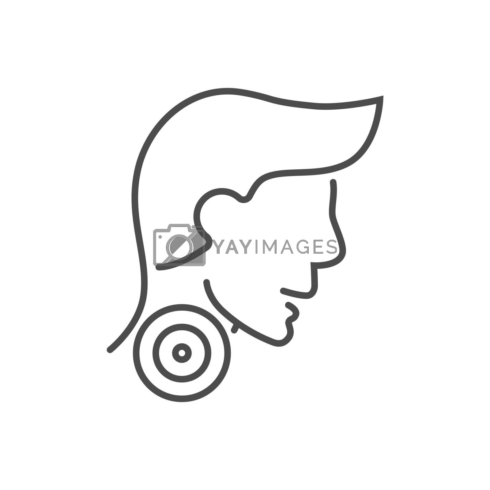 Sore Throat related vector thin line icon. by smoki