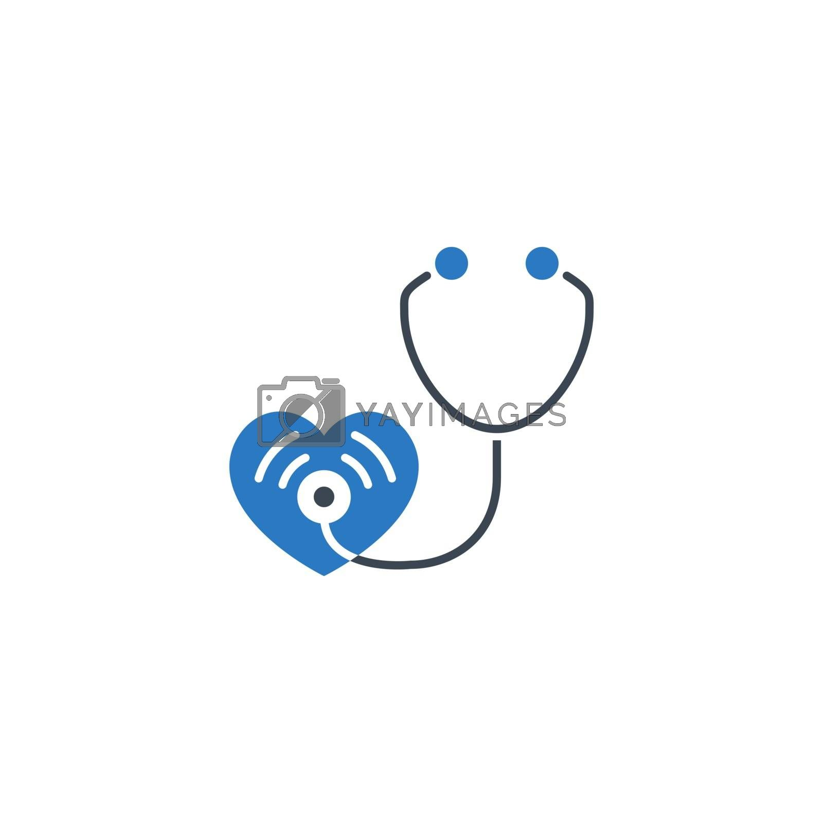 Stethoscope related vector glyph icon. by smoki