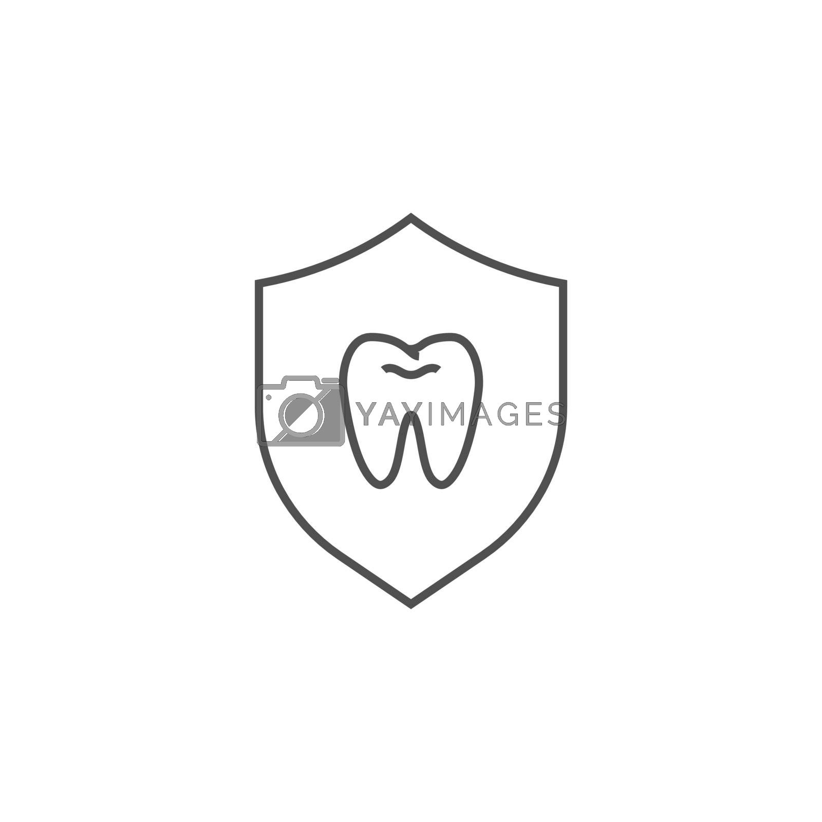 Teeth Protection Icon. Teeth Protection Related Vector Line Icon. Isolated on White Background. Editable Stroke.