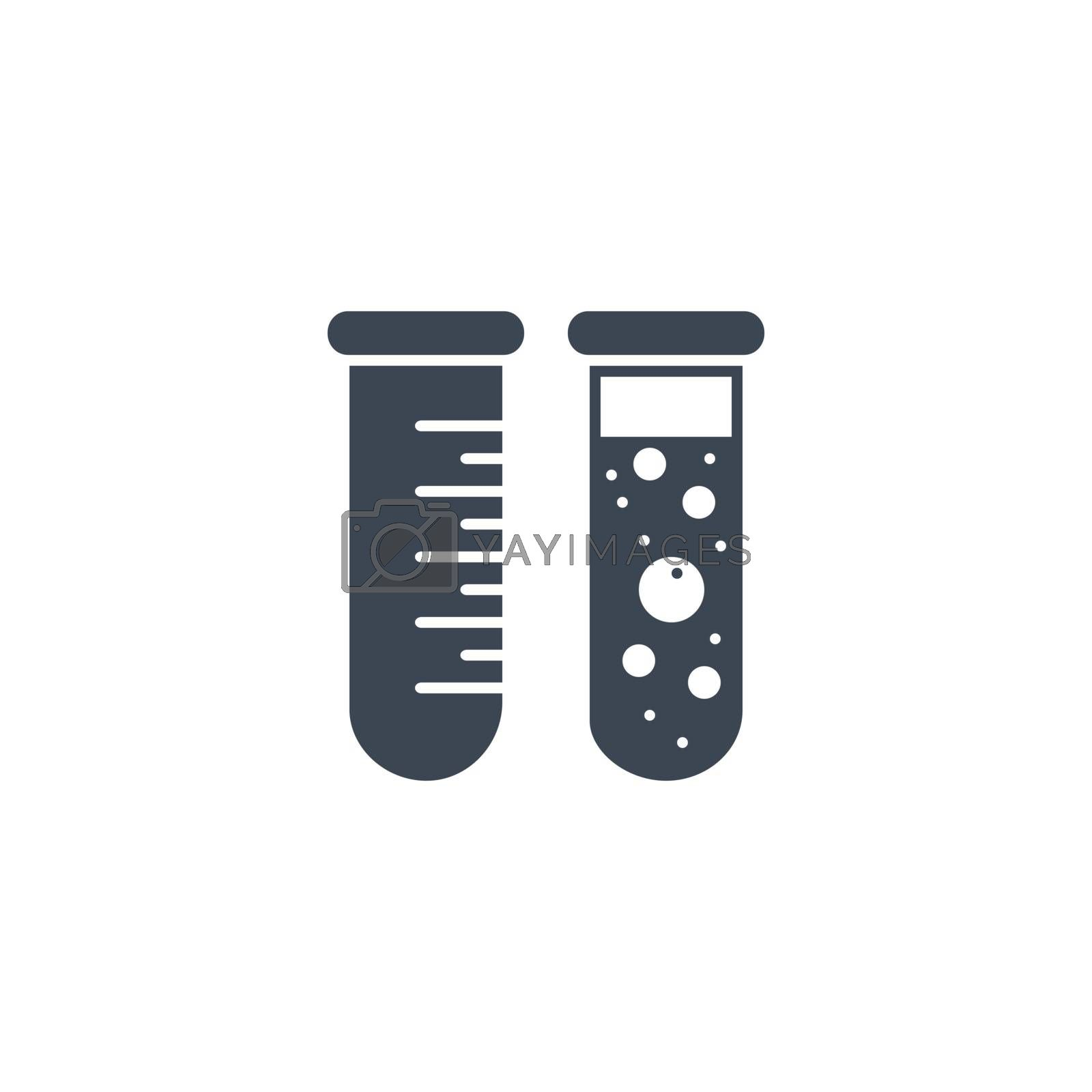Test Tube related vector glyph icon. by smoki