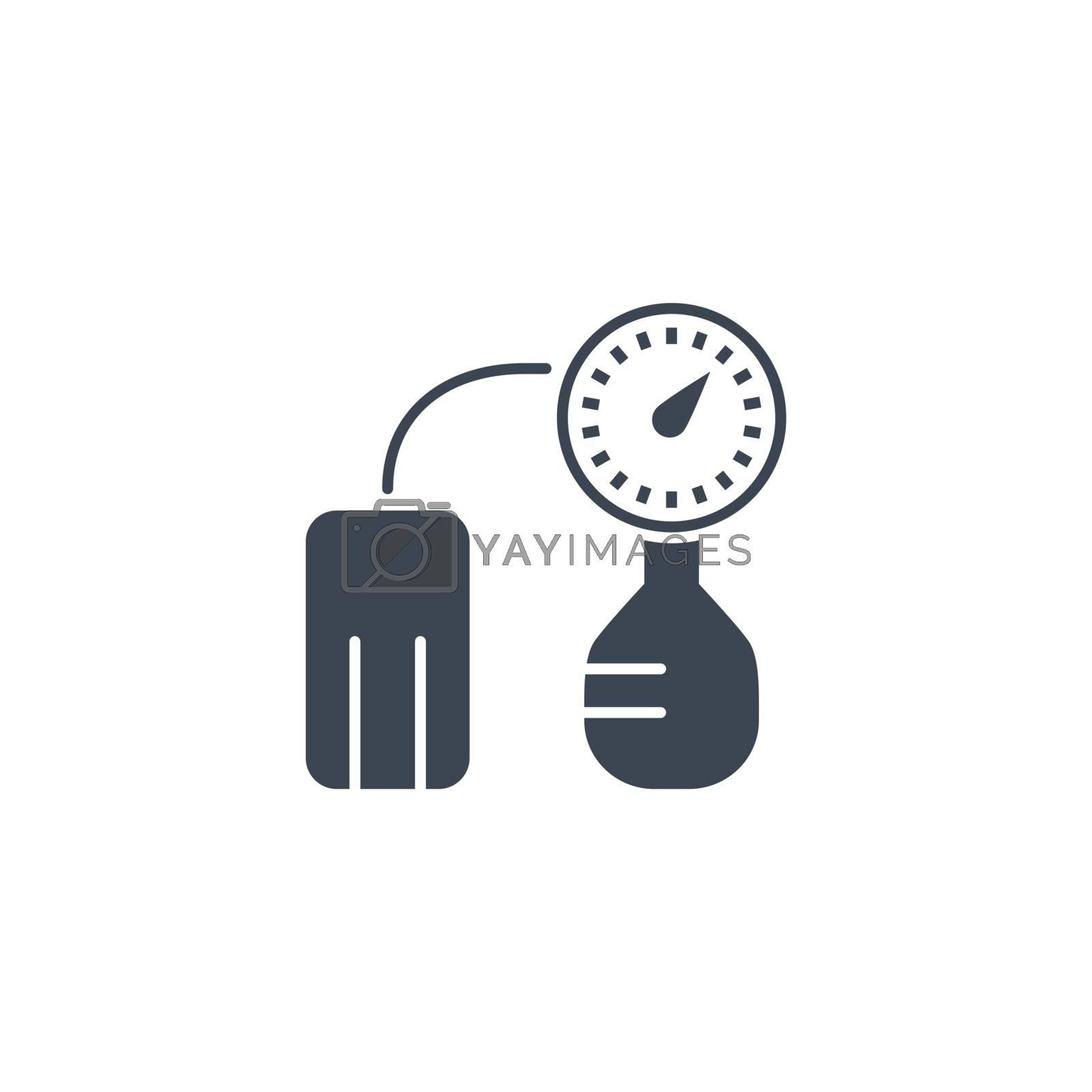 Tonometer related vector glyph icon. by smoki