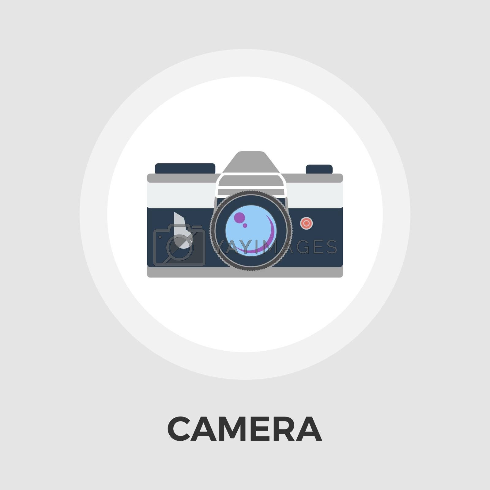 Camera Icon Vector. Flat icon isolated on the white background. Editable EPS file. Vector illustration.