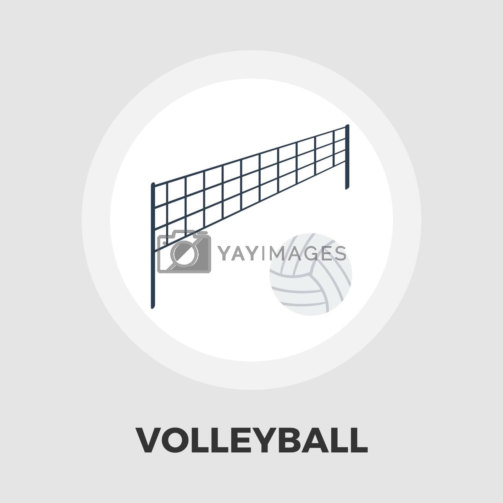 Volleyball icon flat by smoki