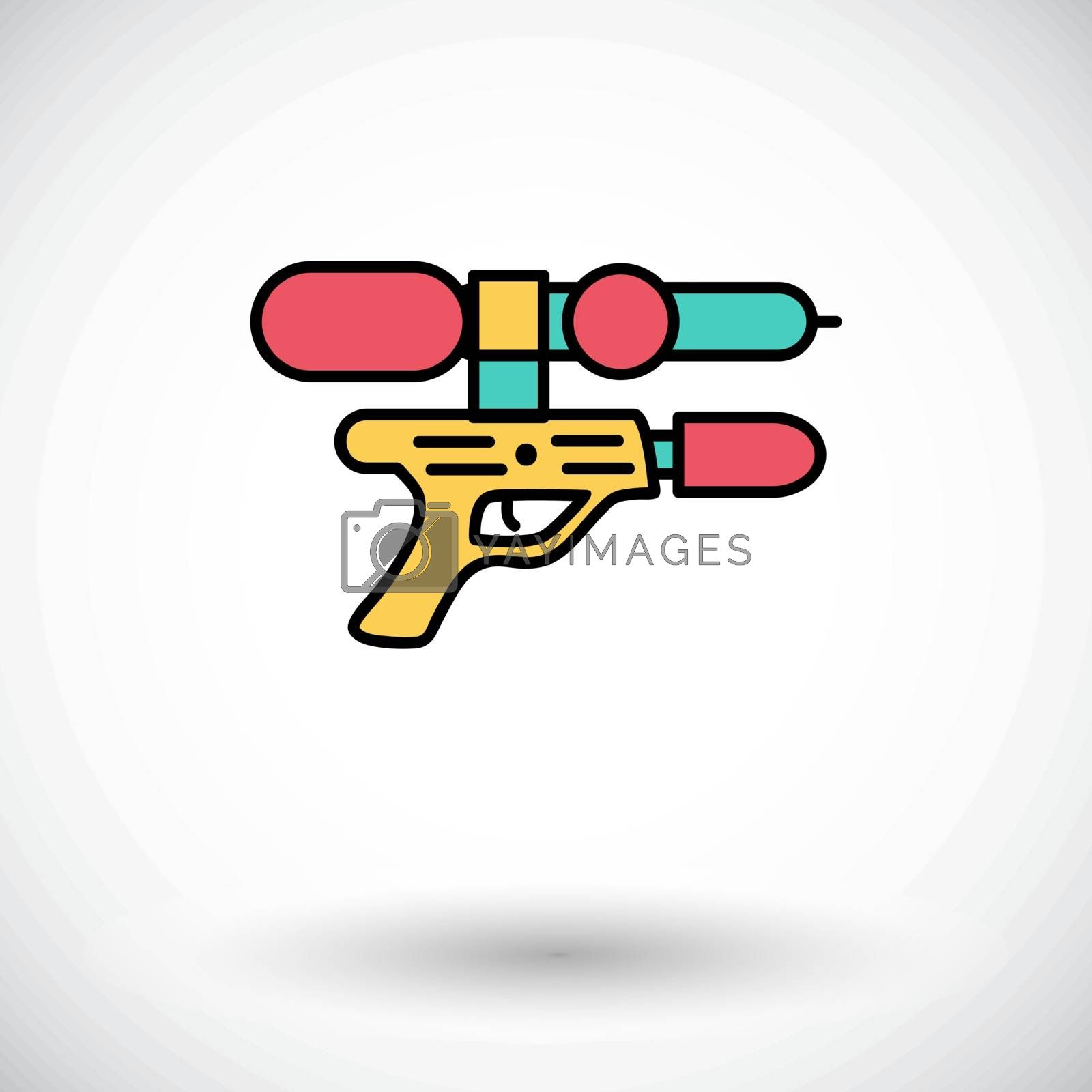 Gun toy icon. Flat vector related icon whit long shadow for web and mobile applications. It can be used as - logo, pictogram, icon, infographic element. Vector Illustration.