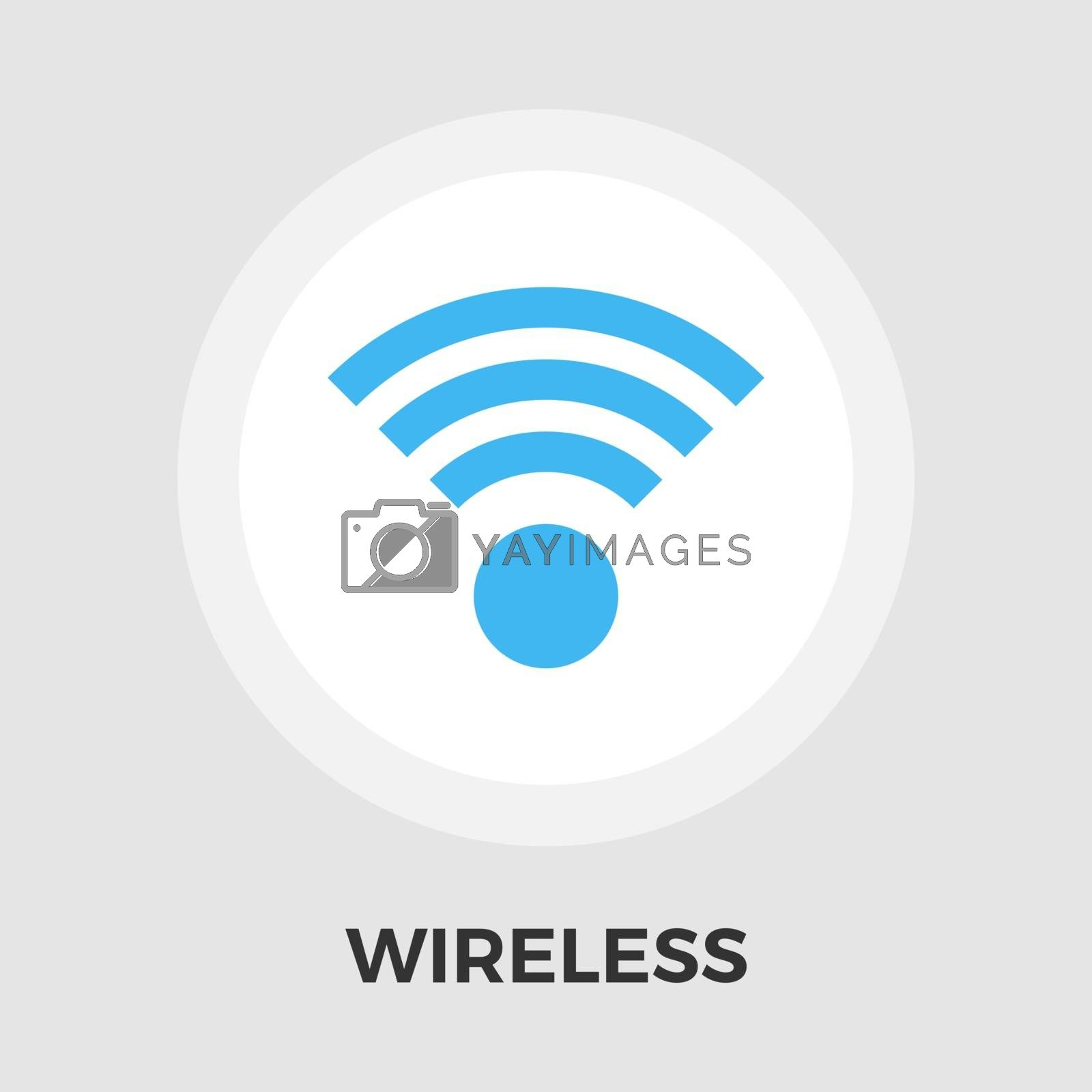 Wireless icon vector. Flat icon isolated on the white background. Editable EPS file. Vector illustration.